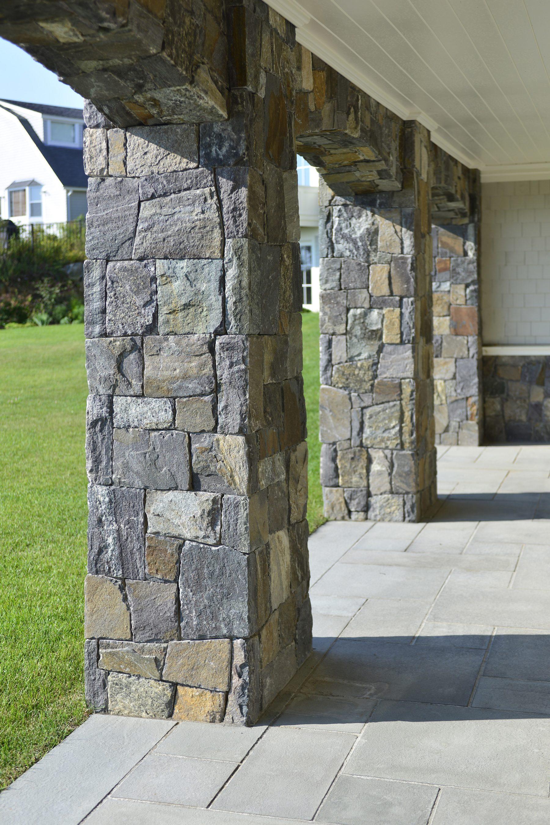 three stone columns