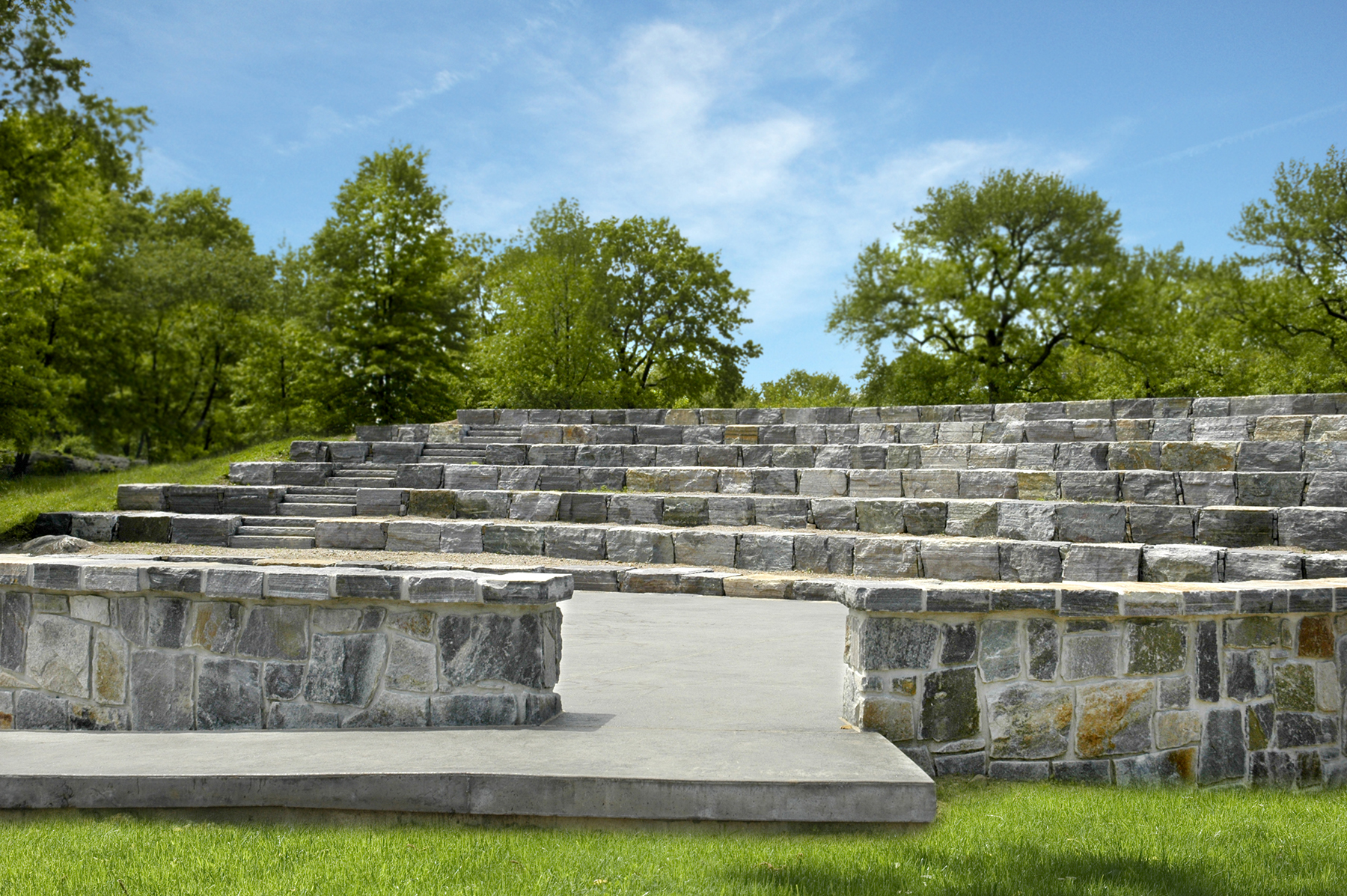 Stone amphitheater seating