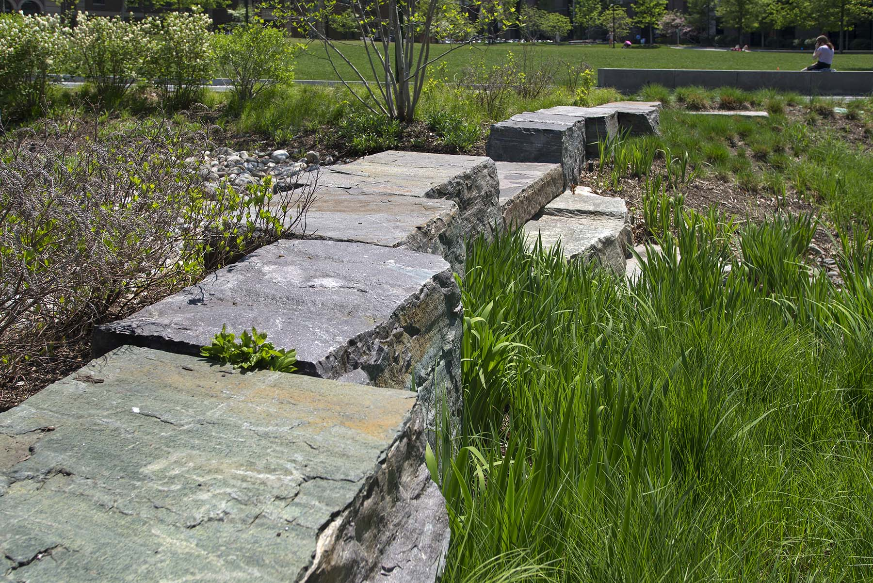 Natural Stone pavers for Shoemaker Green Park