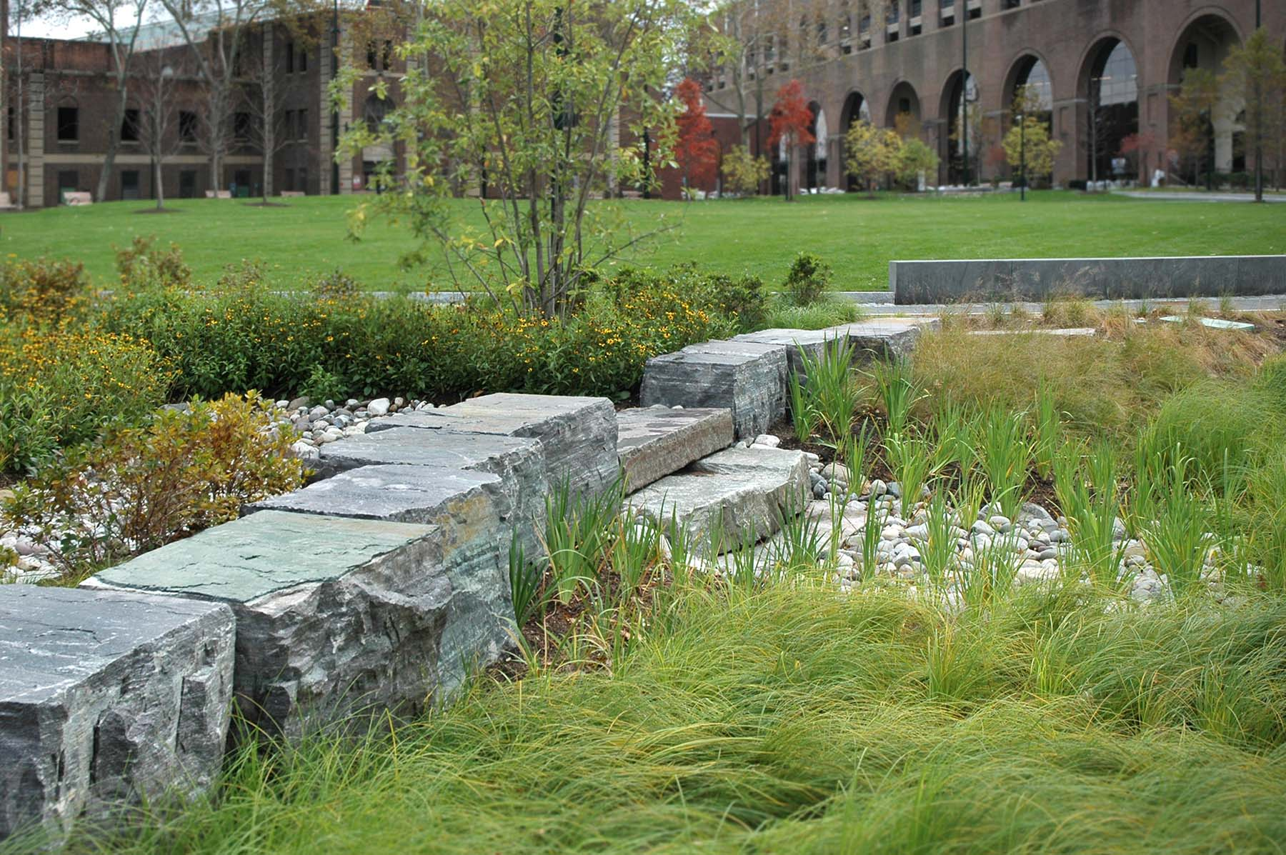 Natural Stone bridge for Shoemaker Green Park