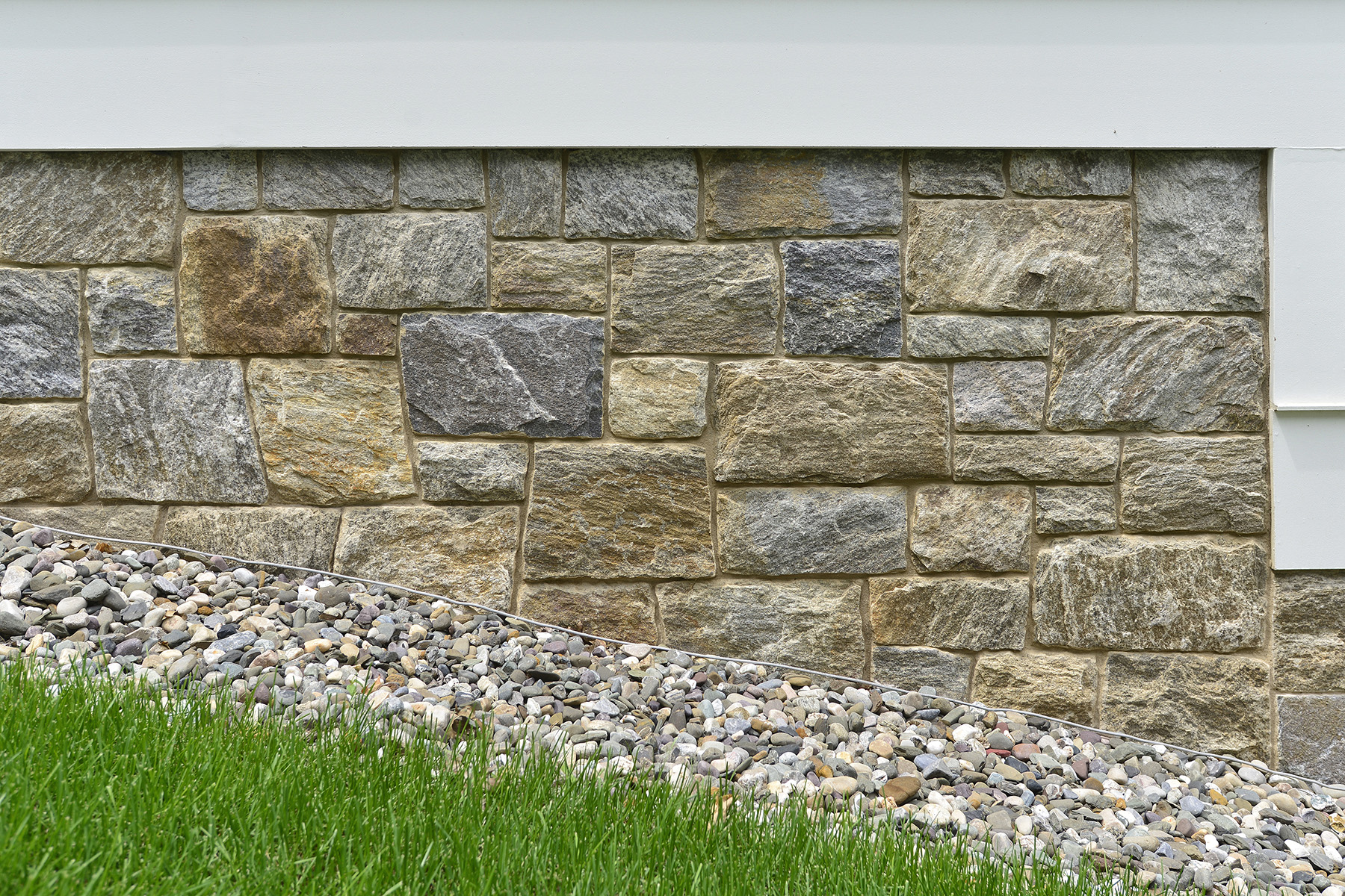 stone wall on slant