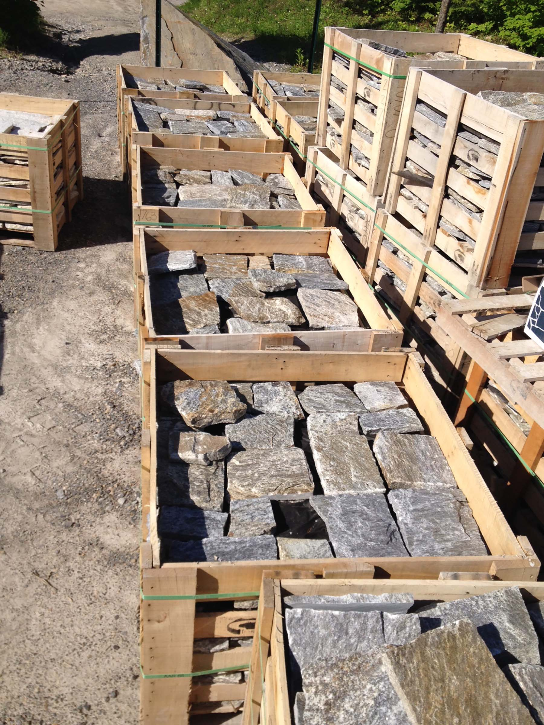 Pallets of 1763 granite