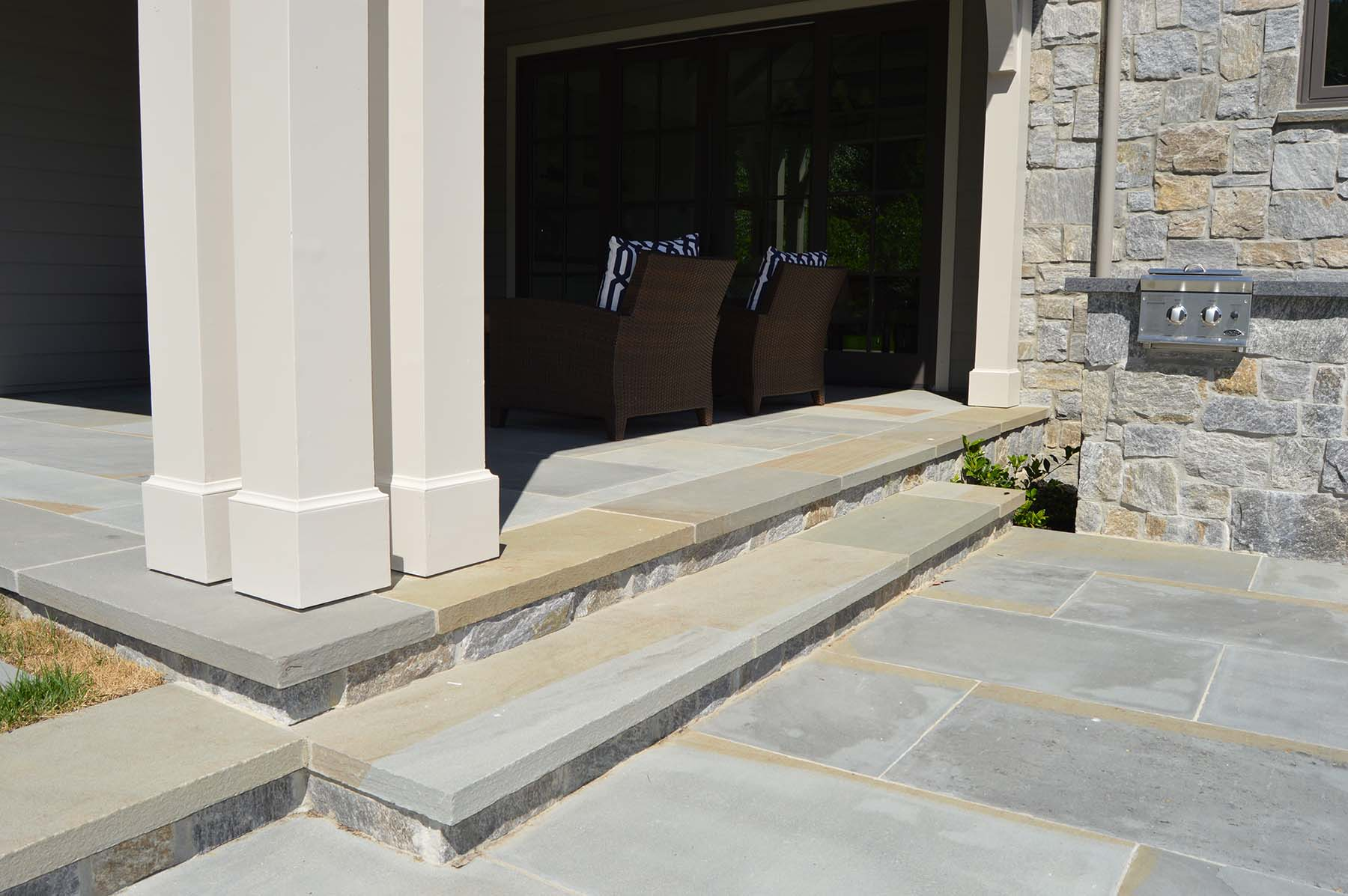 natural stone pavers and flagstone at Toledo Court