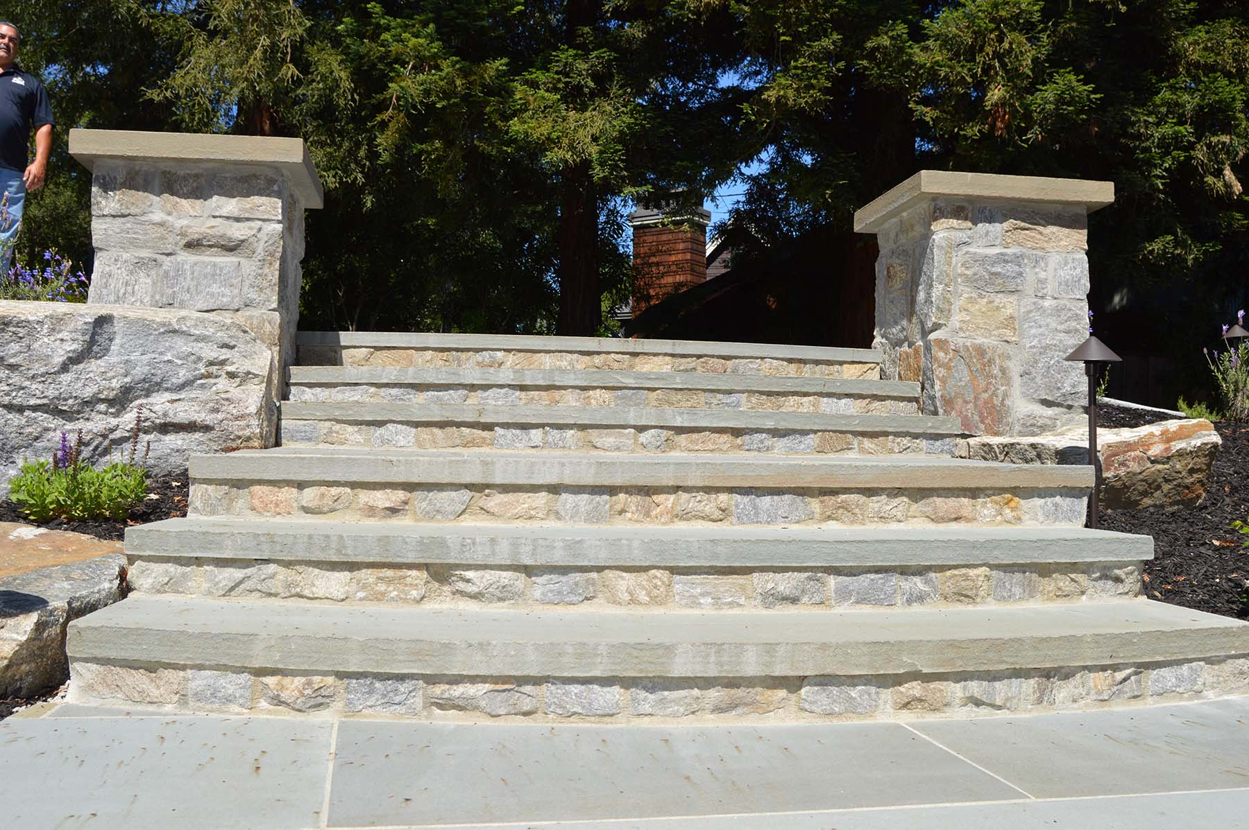 natural stone stairs in toledo court