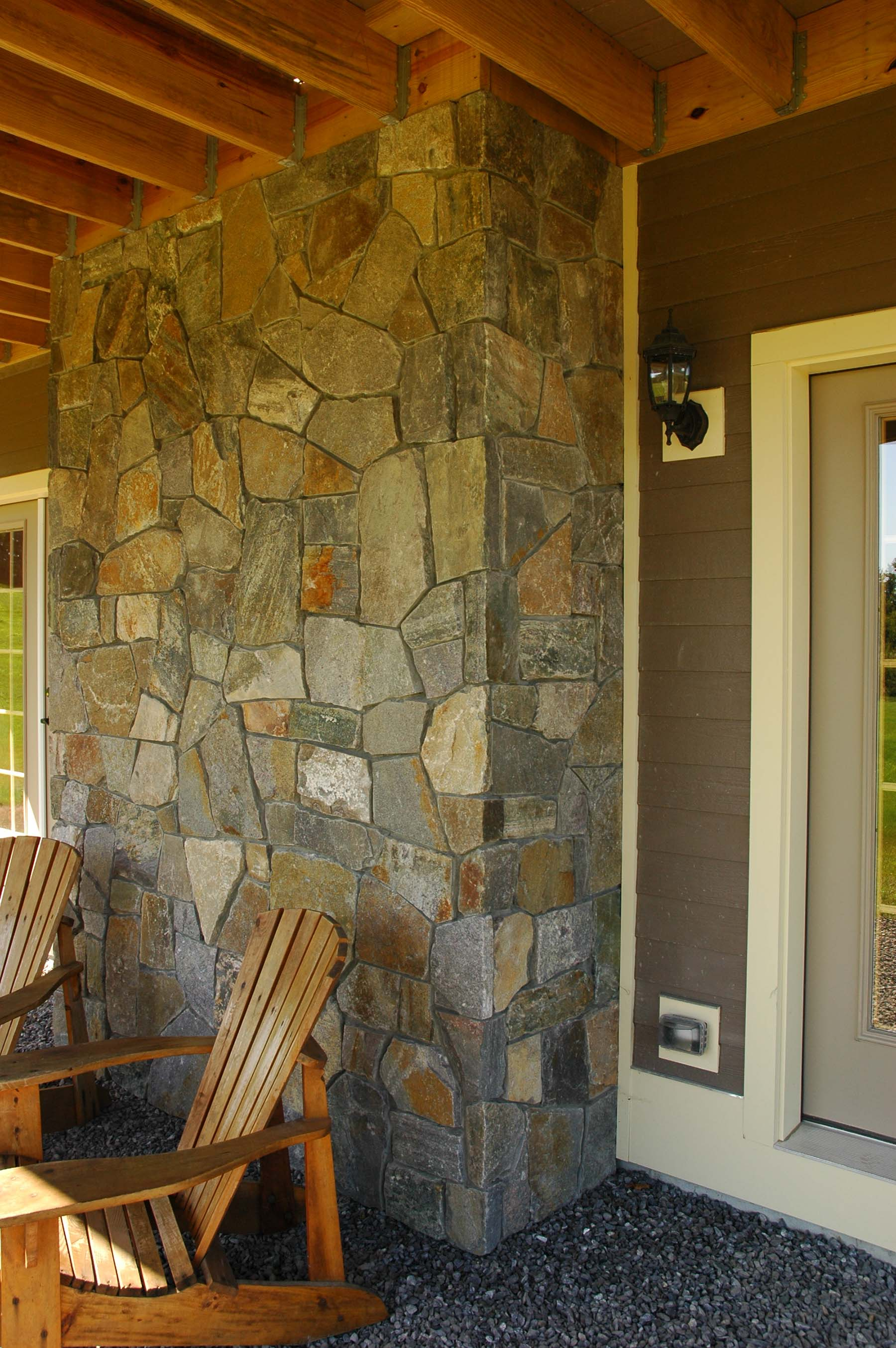 residential home with american granite natural stone exterior wall