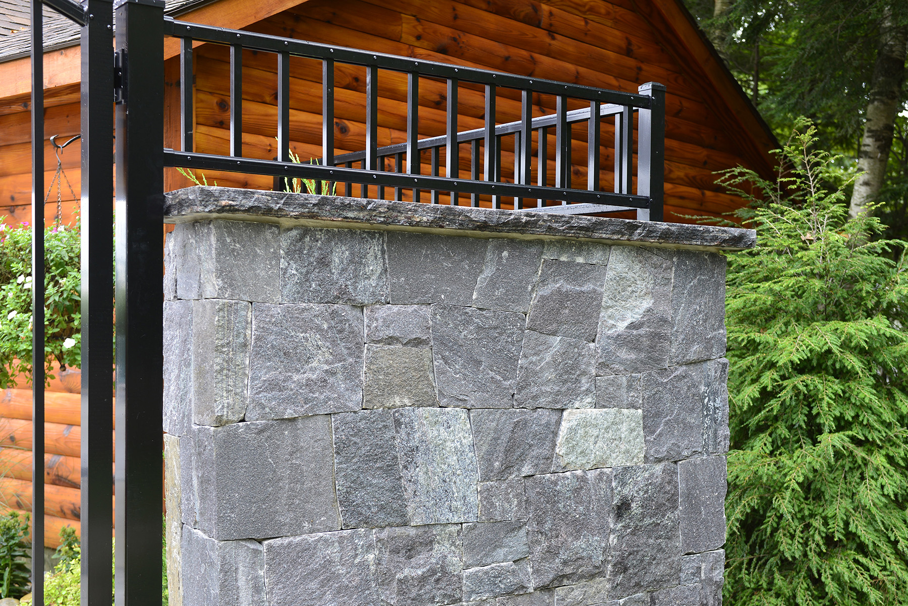 stone wall with gate