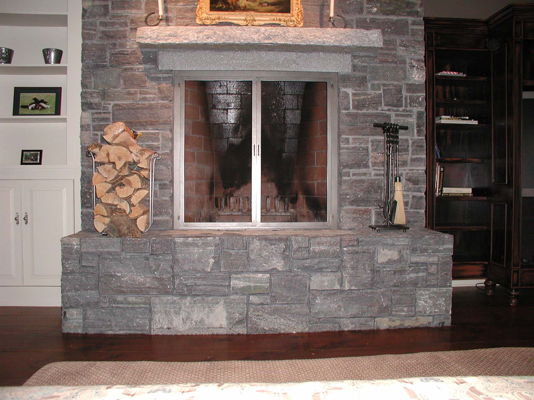 corinthian granite natural stone fireplace