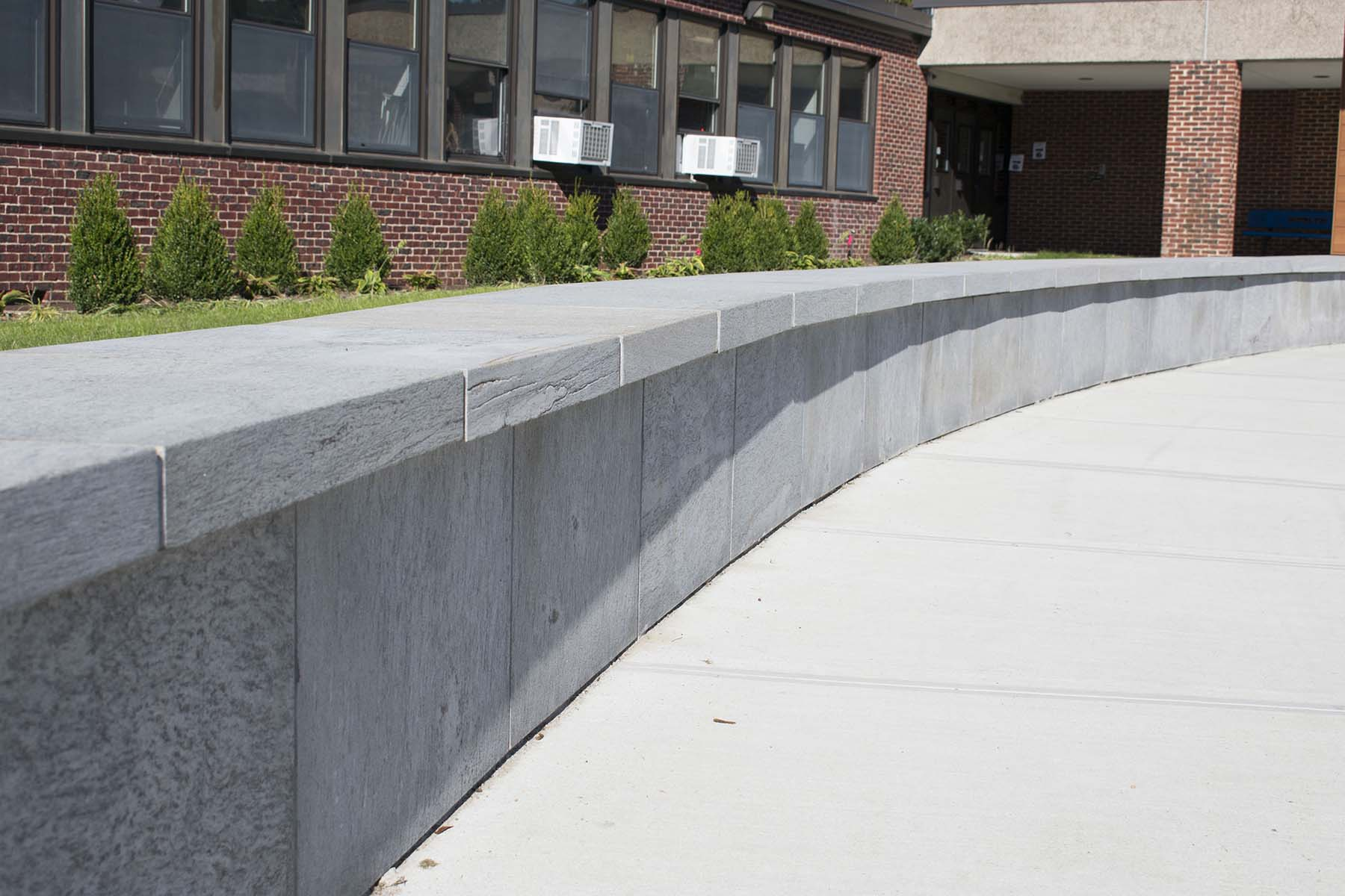 natural stone wall for roslyn high school