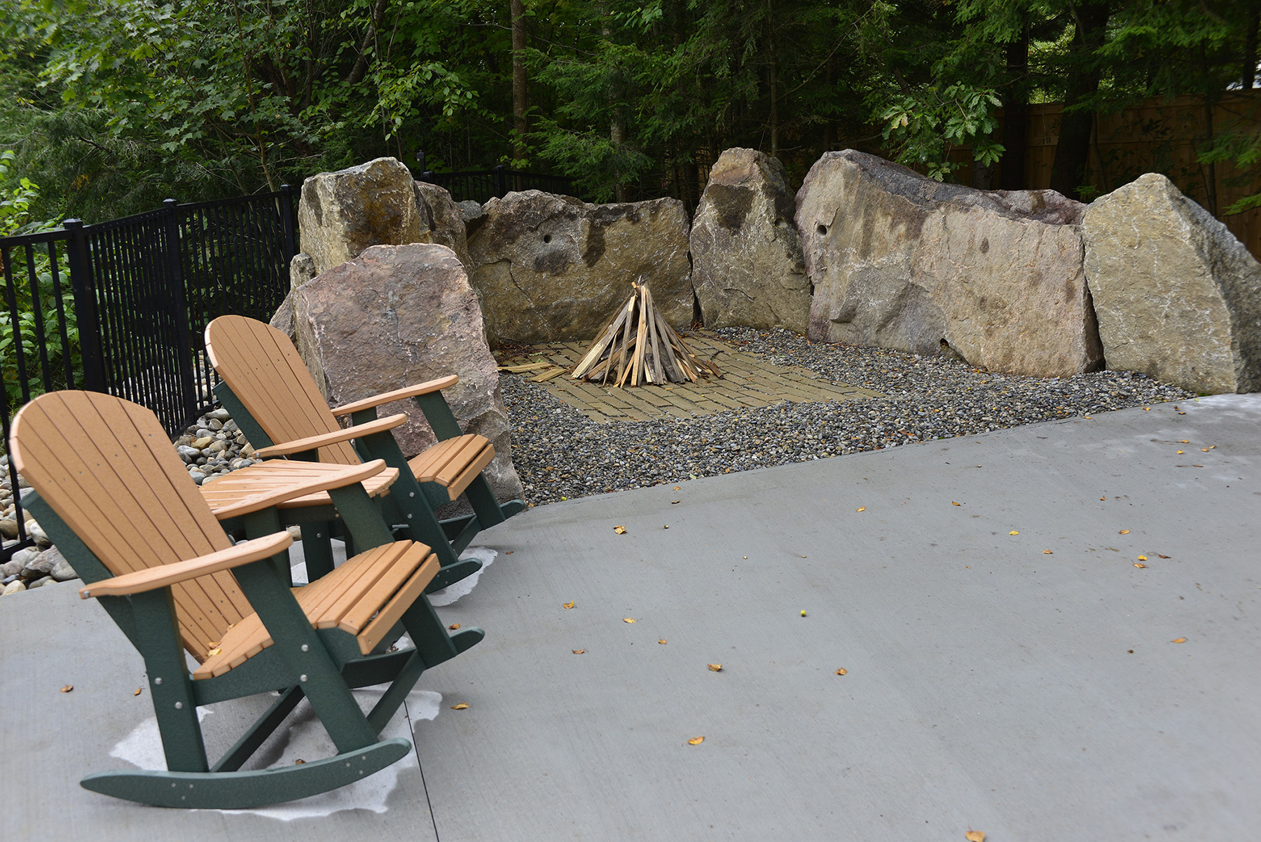 small stone firepit