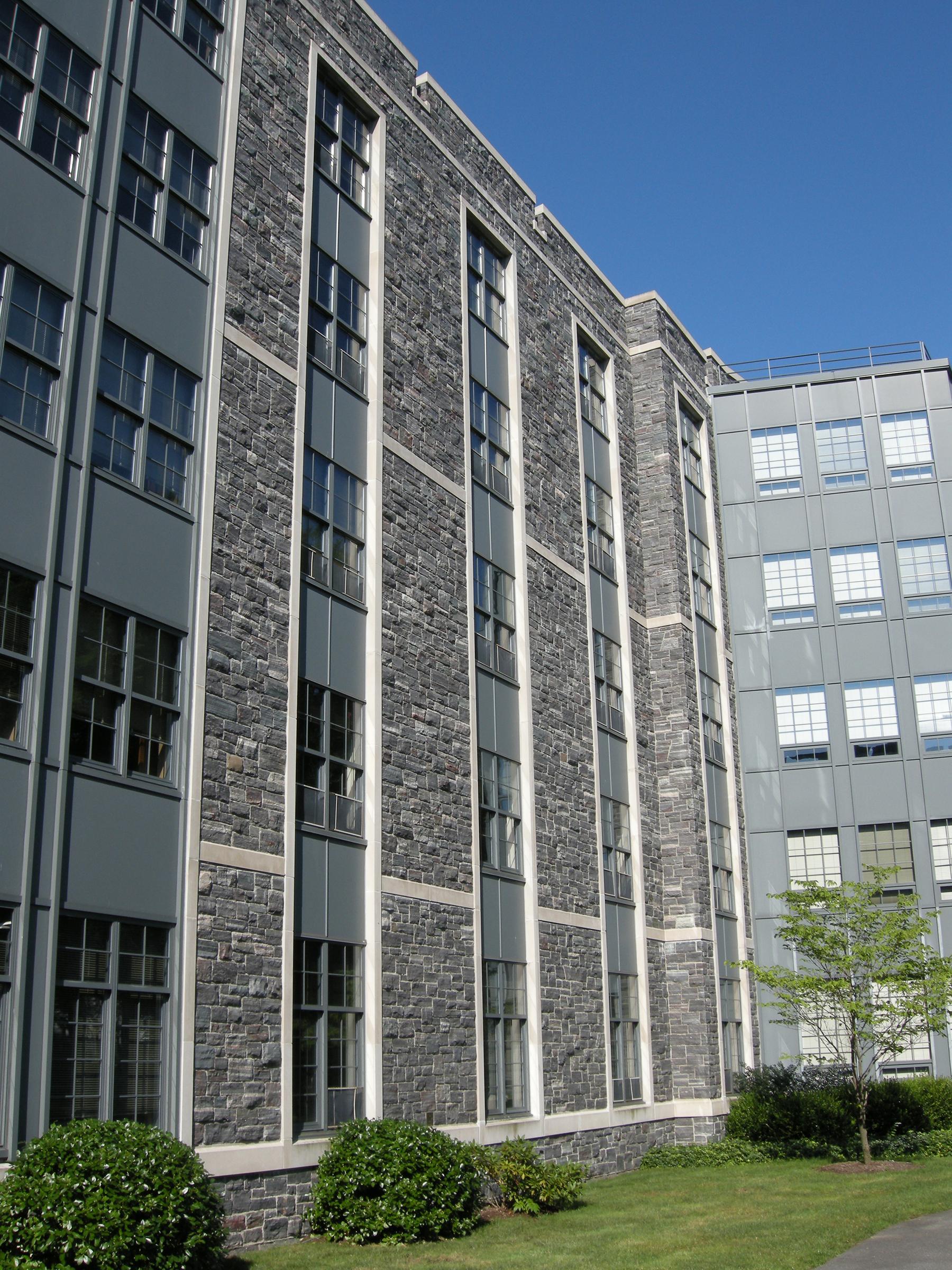 stone exterior on dorms