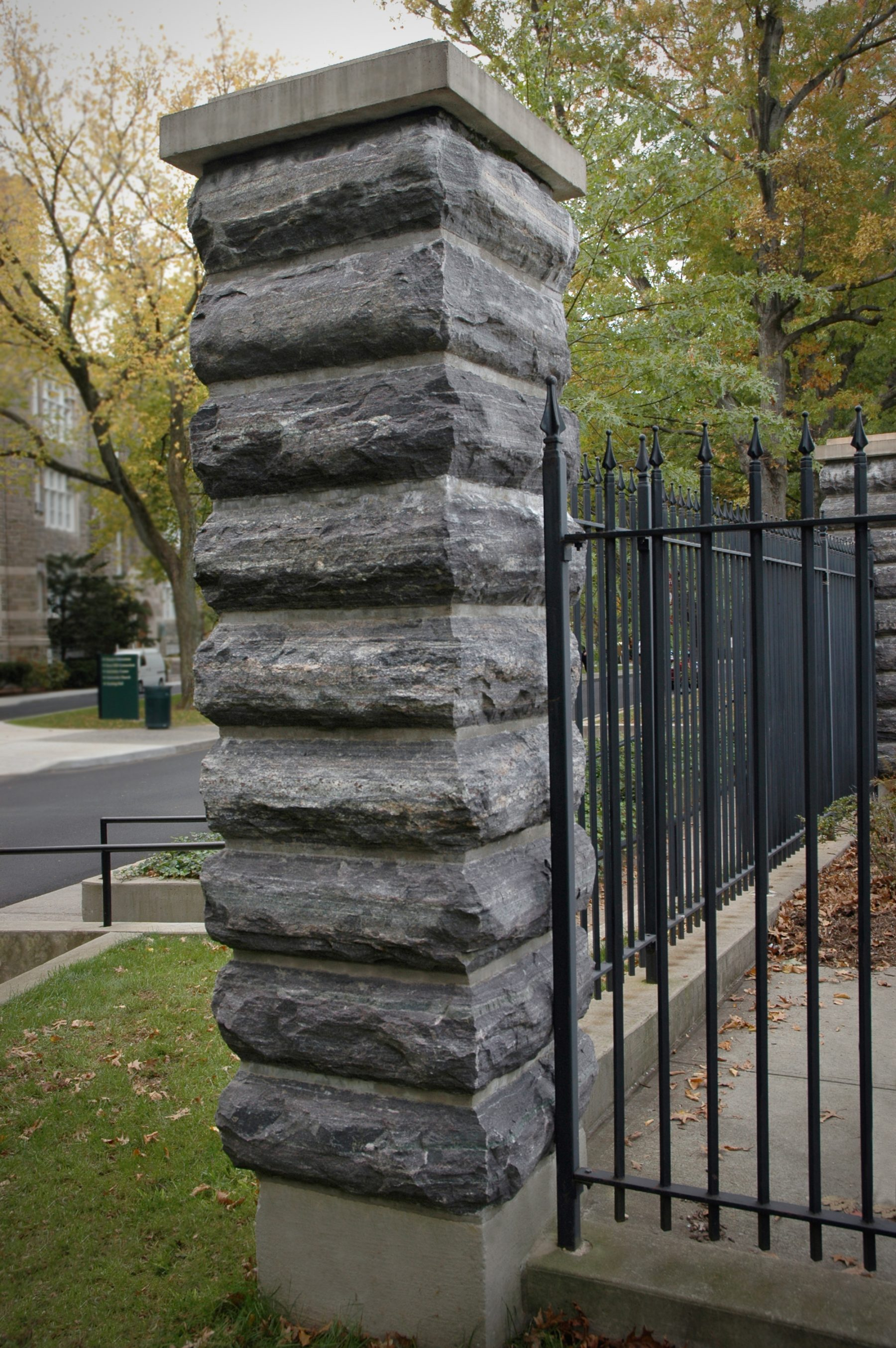 artsy stone column