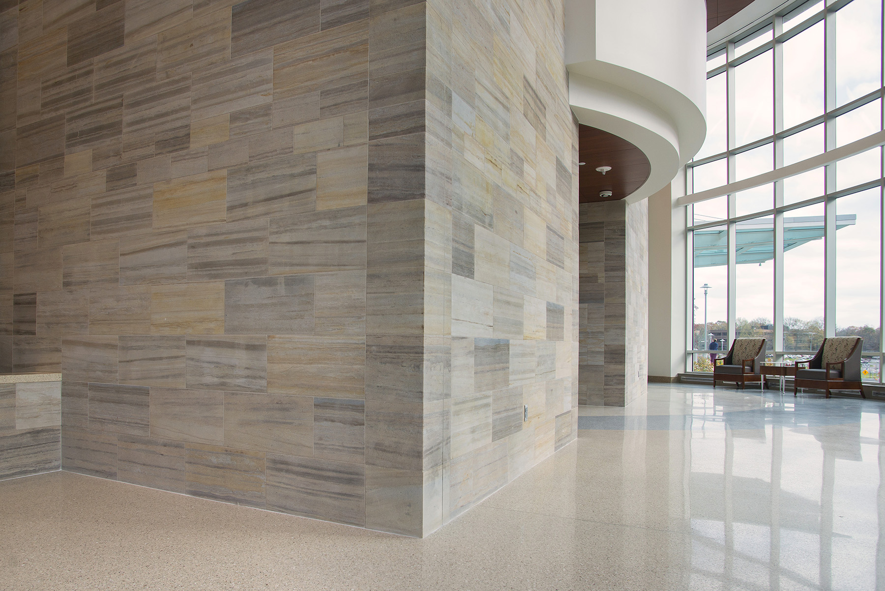 elegant stone interior finish