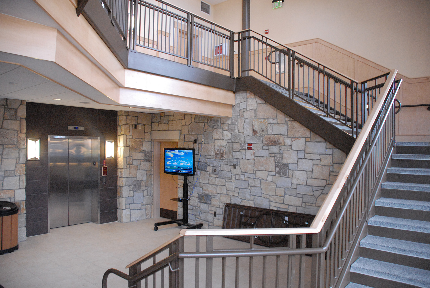 inside winding staircase