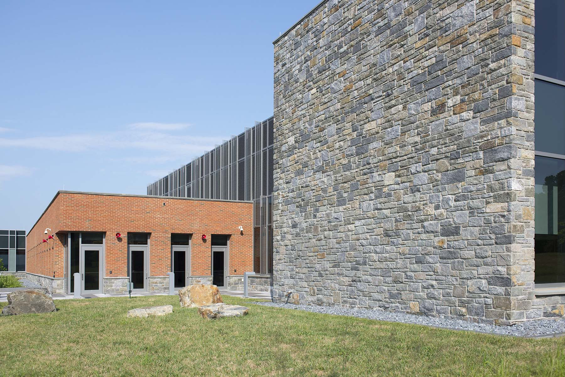 stone veneer wall at USCG Headquarters