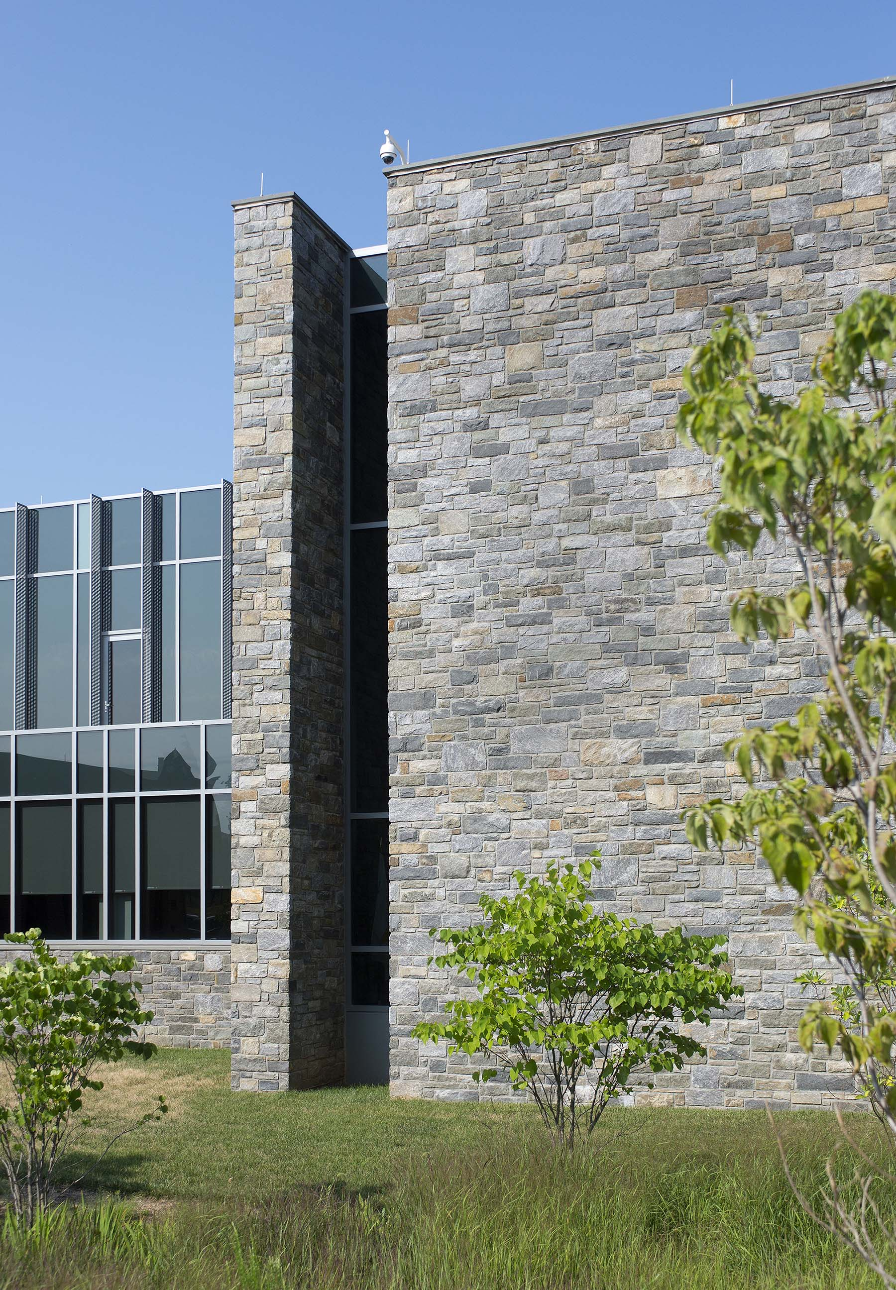 stone veneer building at USCG Headquarters