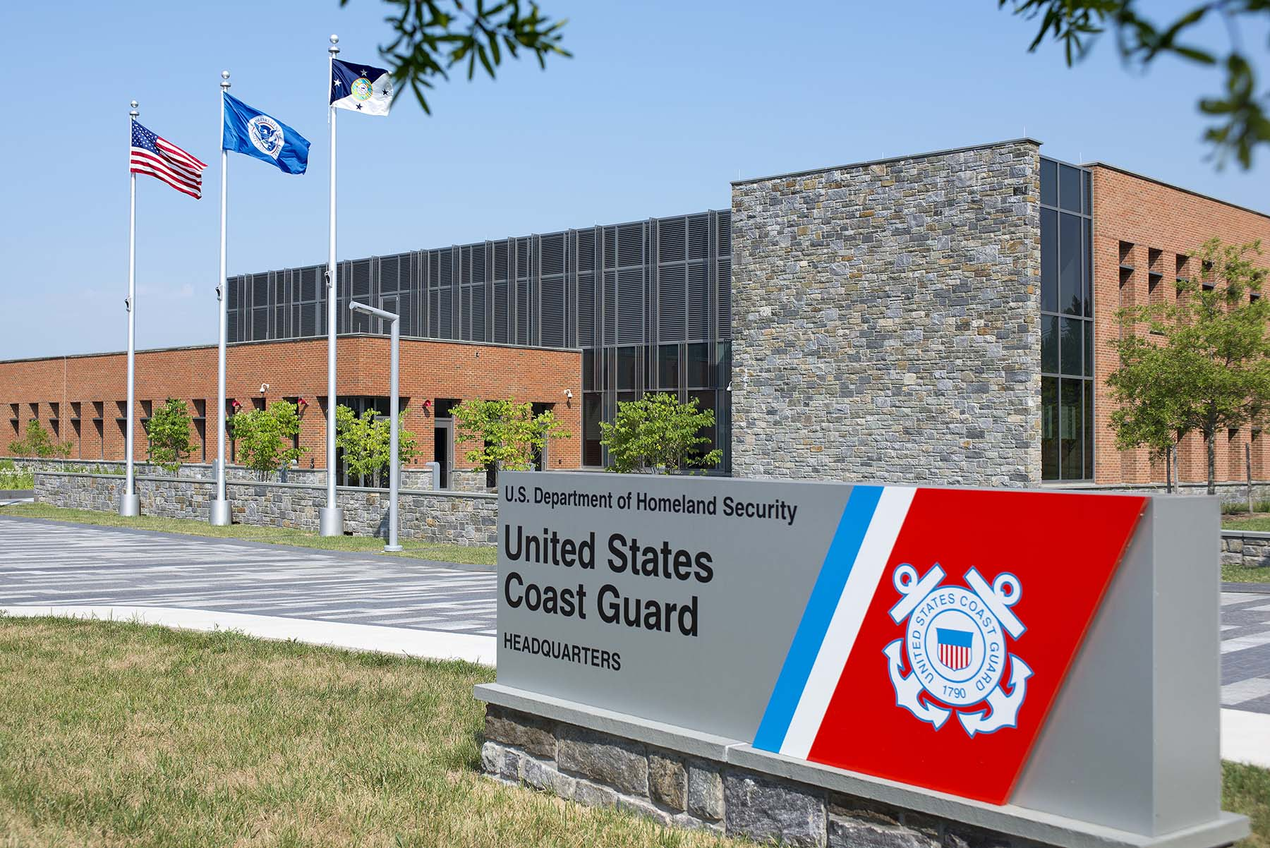 United States Coast Guard Sign and headquarters