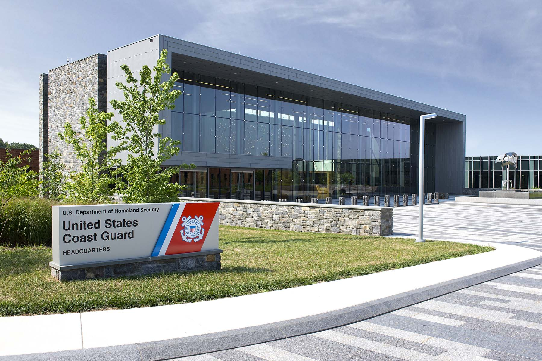 United States Coast Guard Sign and building