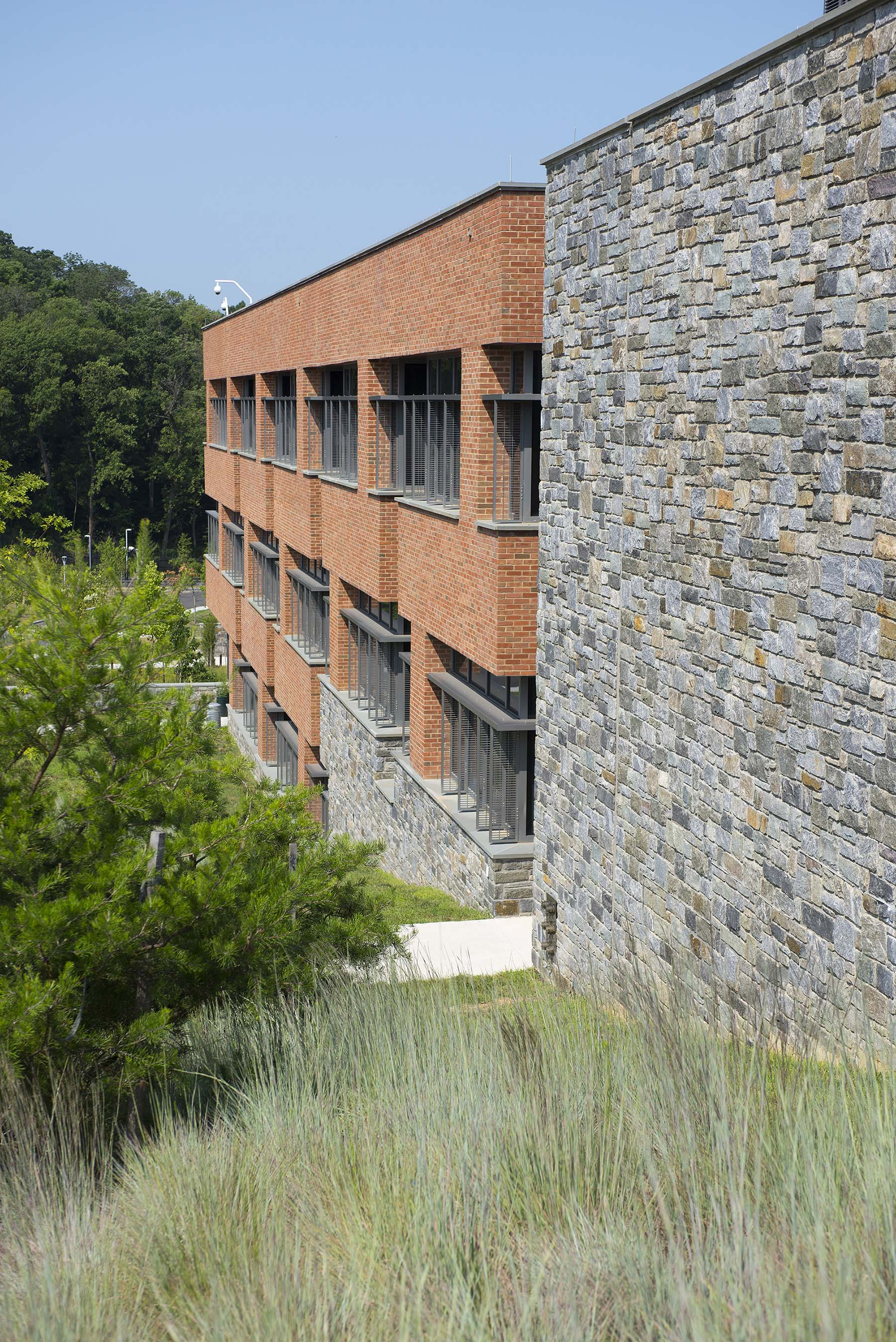 natural stone veneer building at USCG Headquarters