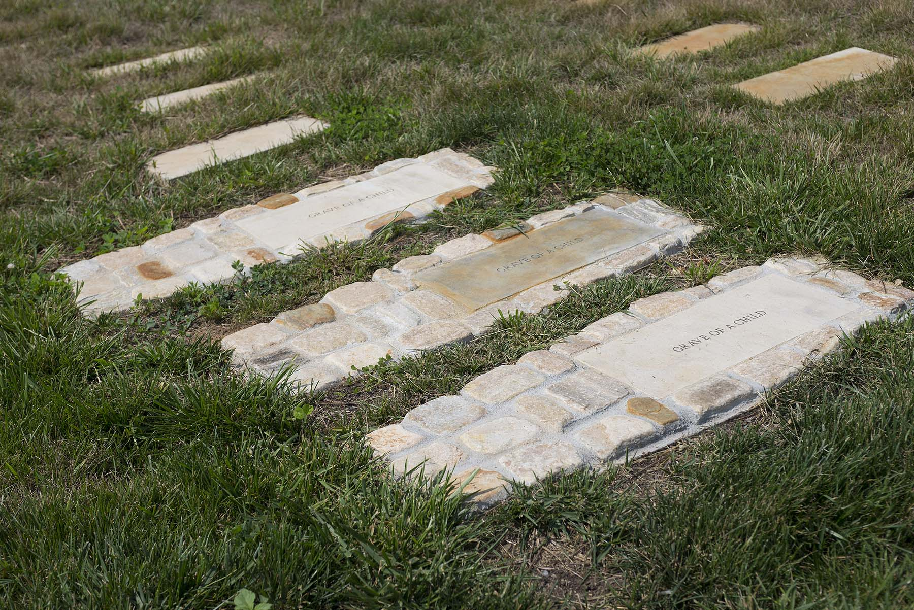 Natural stone gravemarkers at freedman cemetery