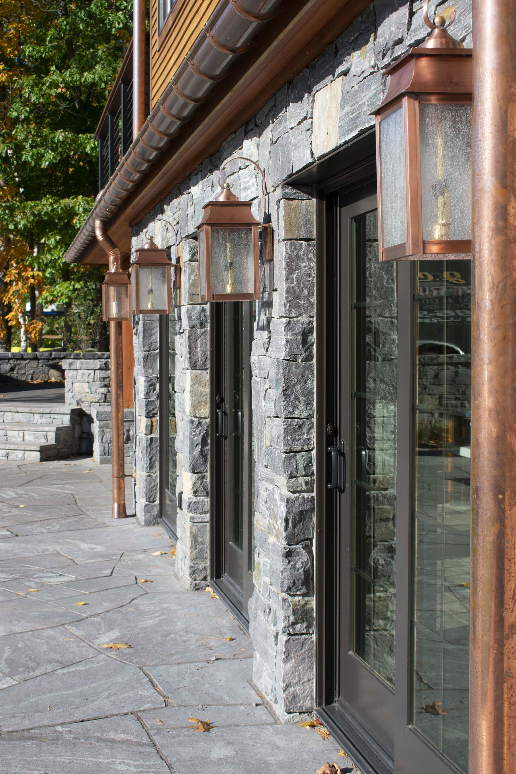 natural stone veneer for private residence