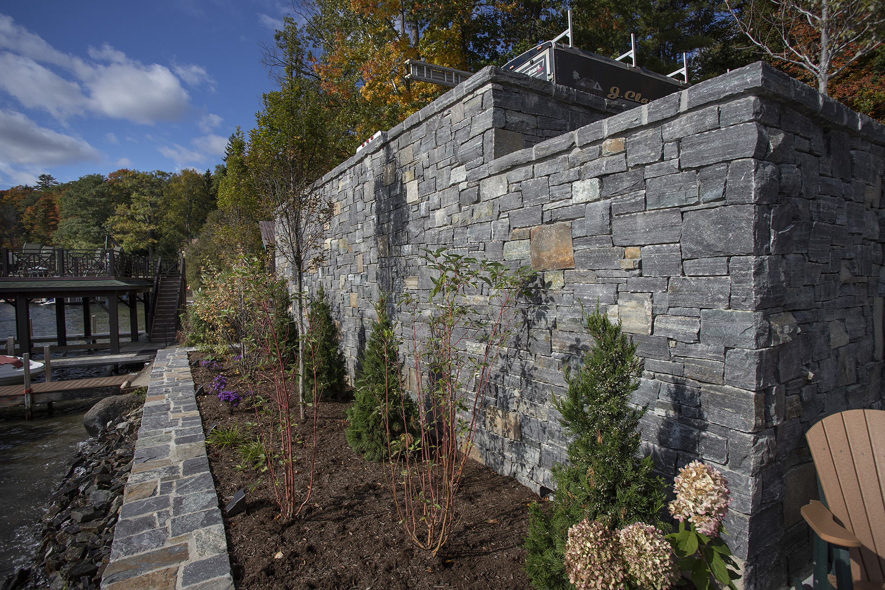 stone wall containing garden