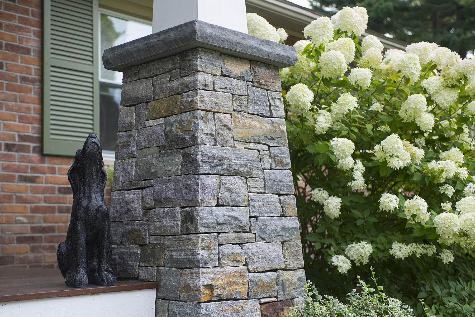 saratoga granite natural stone column for porch
