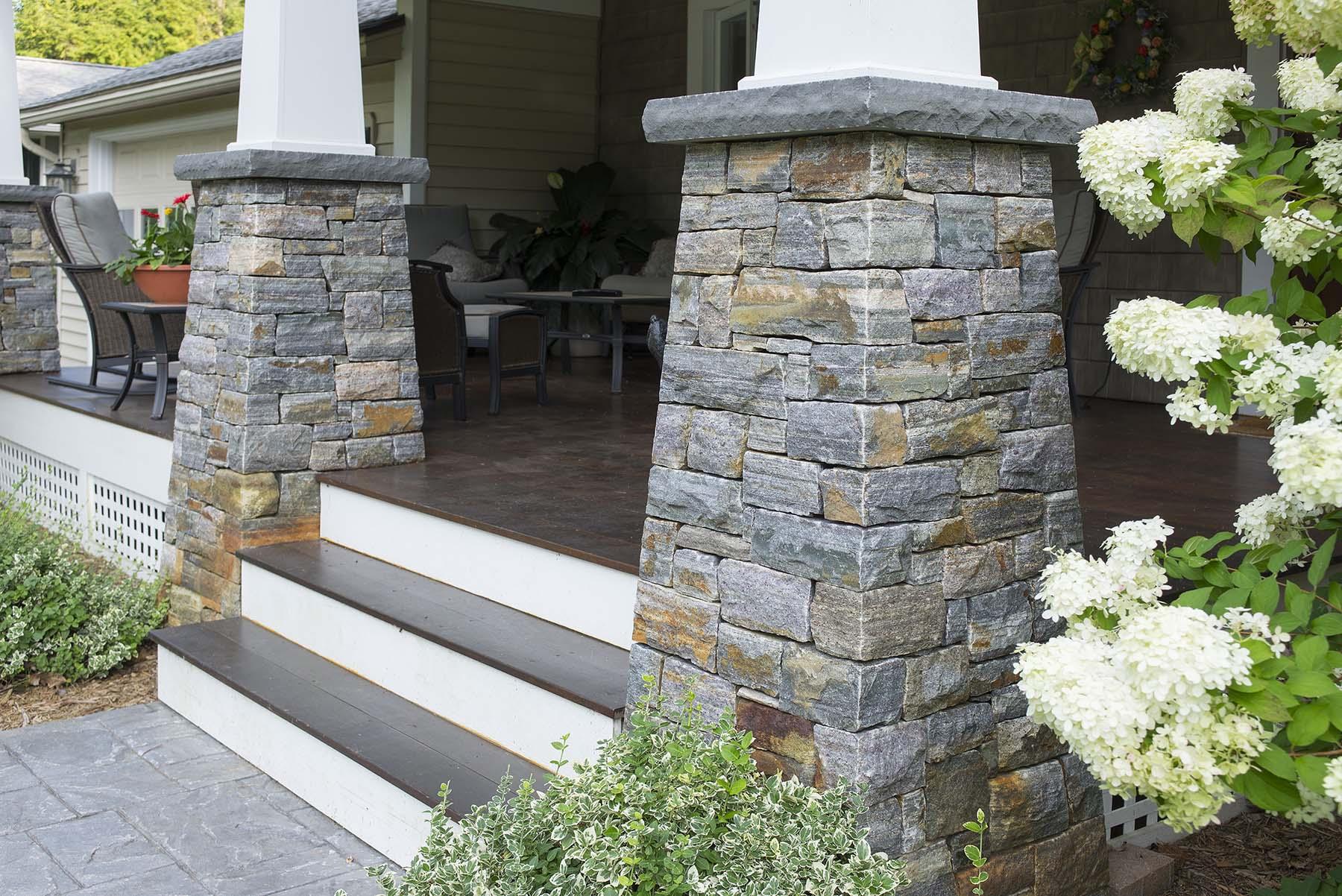 saratoga granite natural stone columns for porch