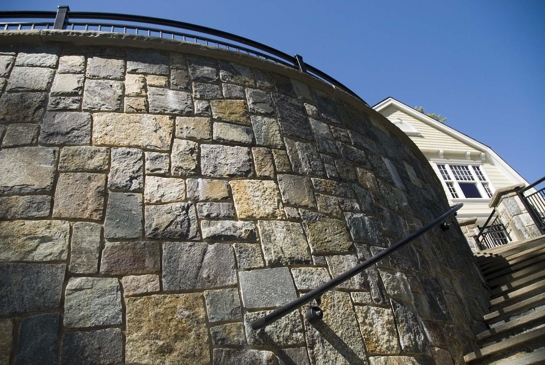 saratoga granite mosaic natural stone wall outside