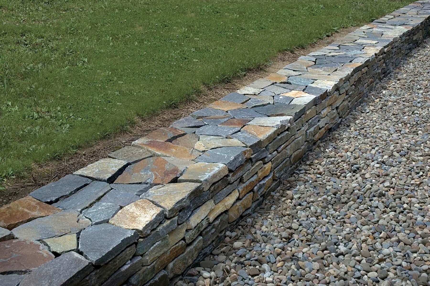 saratoga granite mosaic natural stone retaining wall