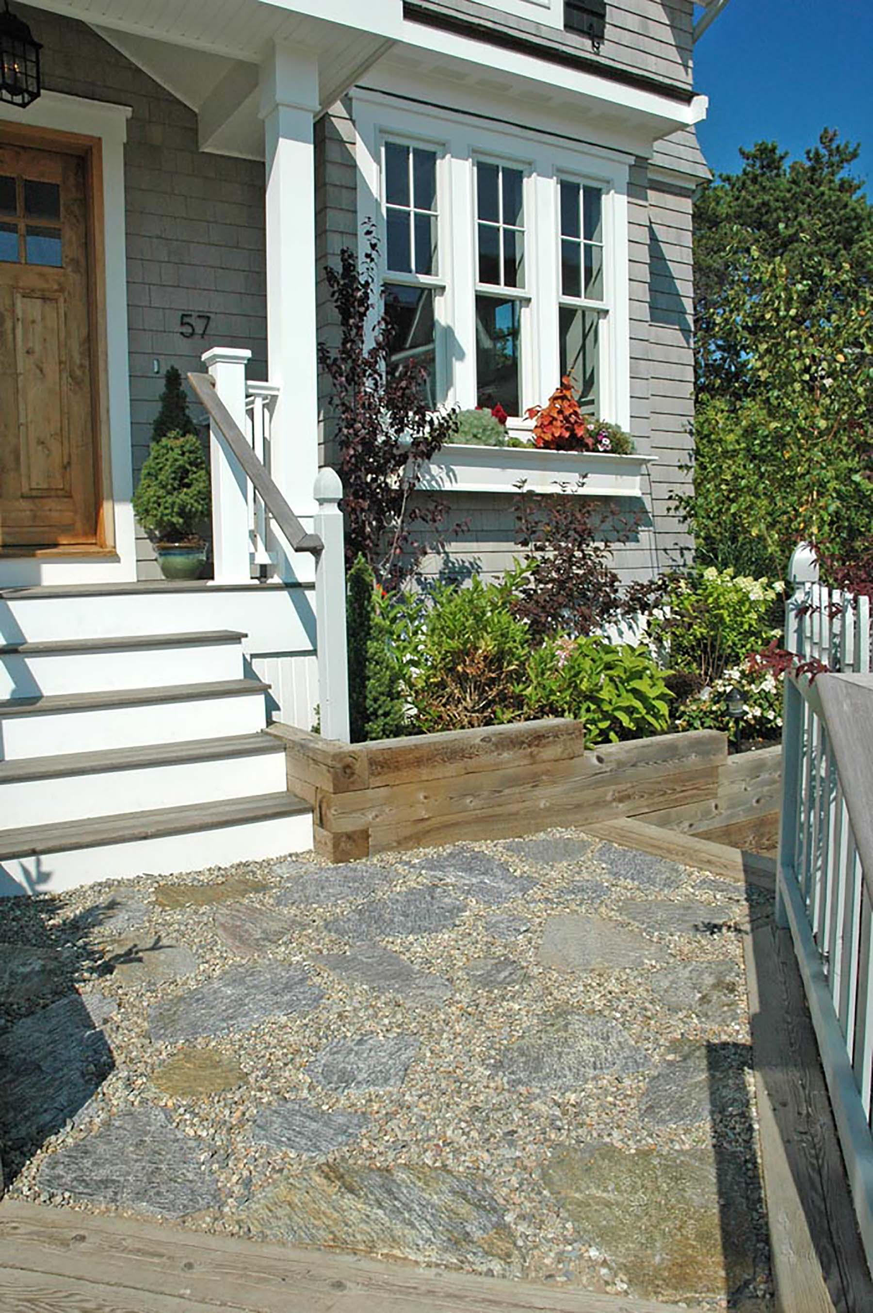 Ticonderoga Granite Flagging outside residential home