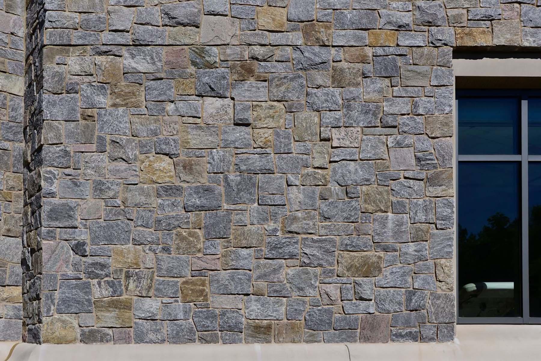 Ticonderoga granite natural stone wall