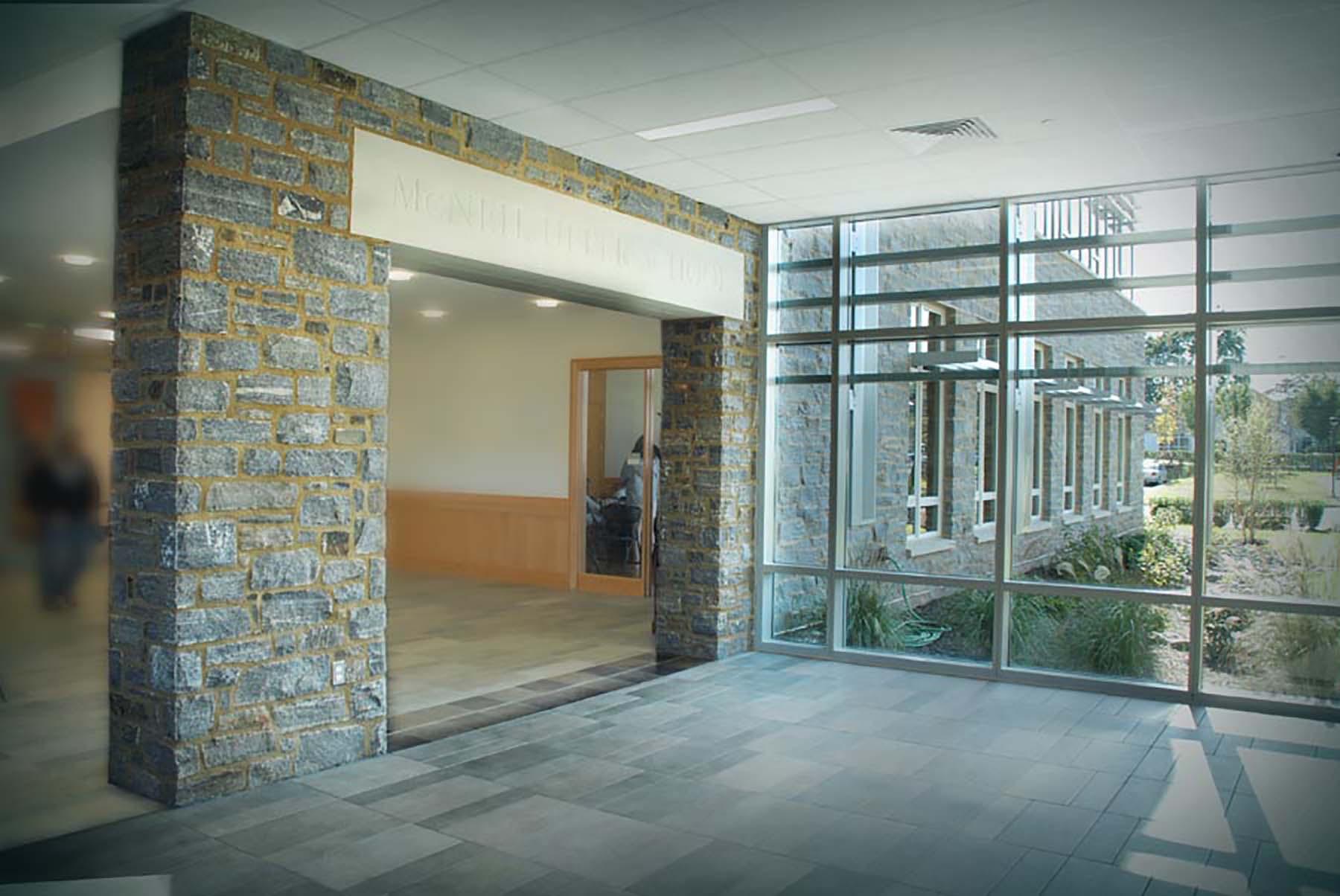 interior natural stone column from wood creek granite