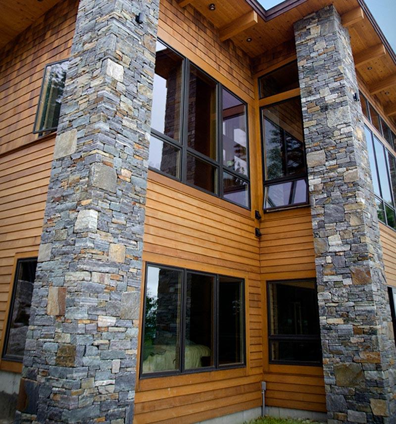 Natural Adirondack Granite Columns