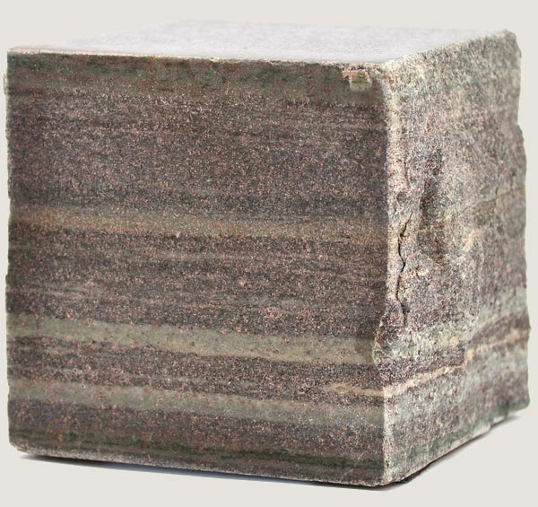 cube of stone with honed finish