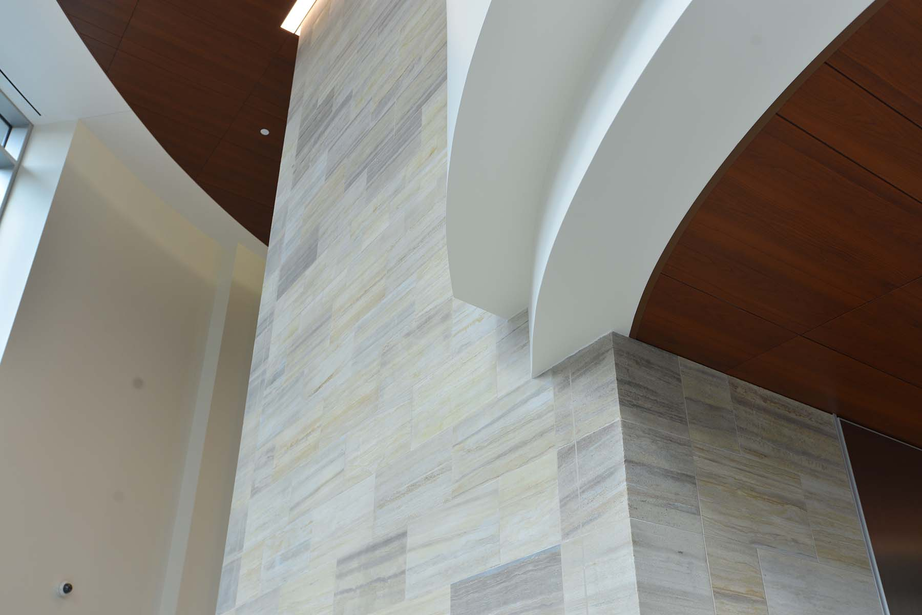 natural stone indoor wall for inova fairfax hospital