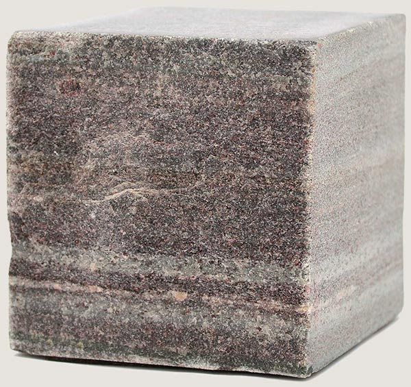 cube of stone with natural finish