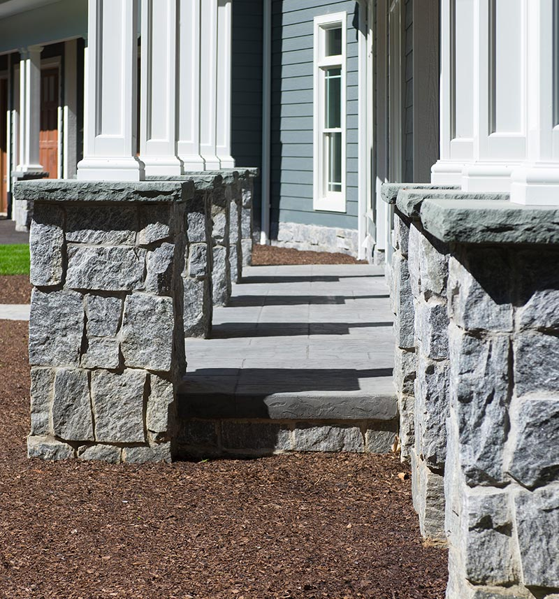 natural stone columns for private residence