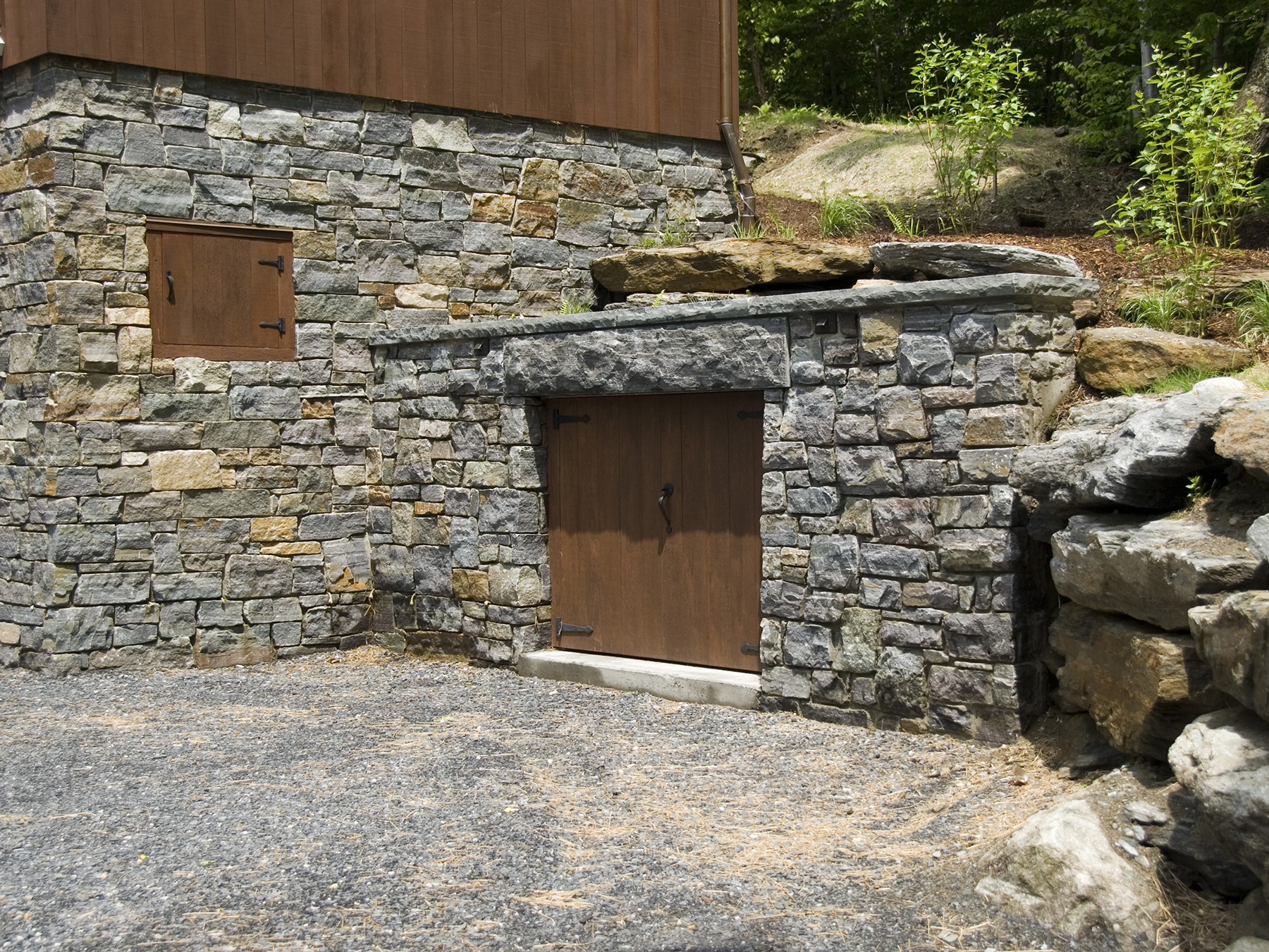 small stone storage place