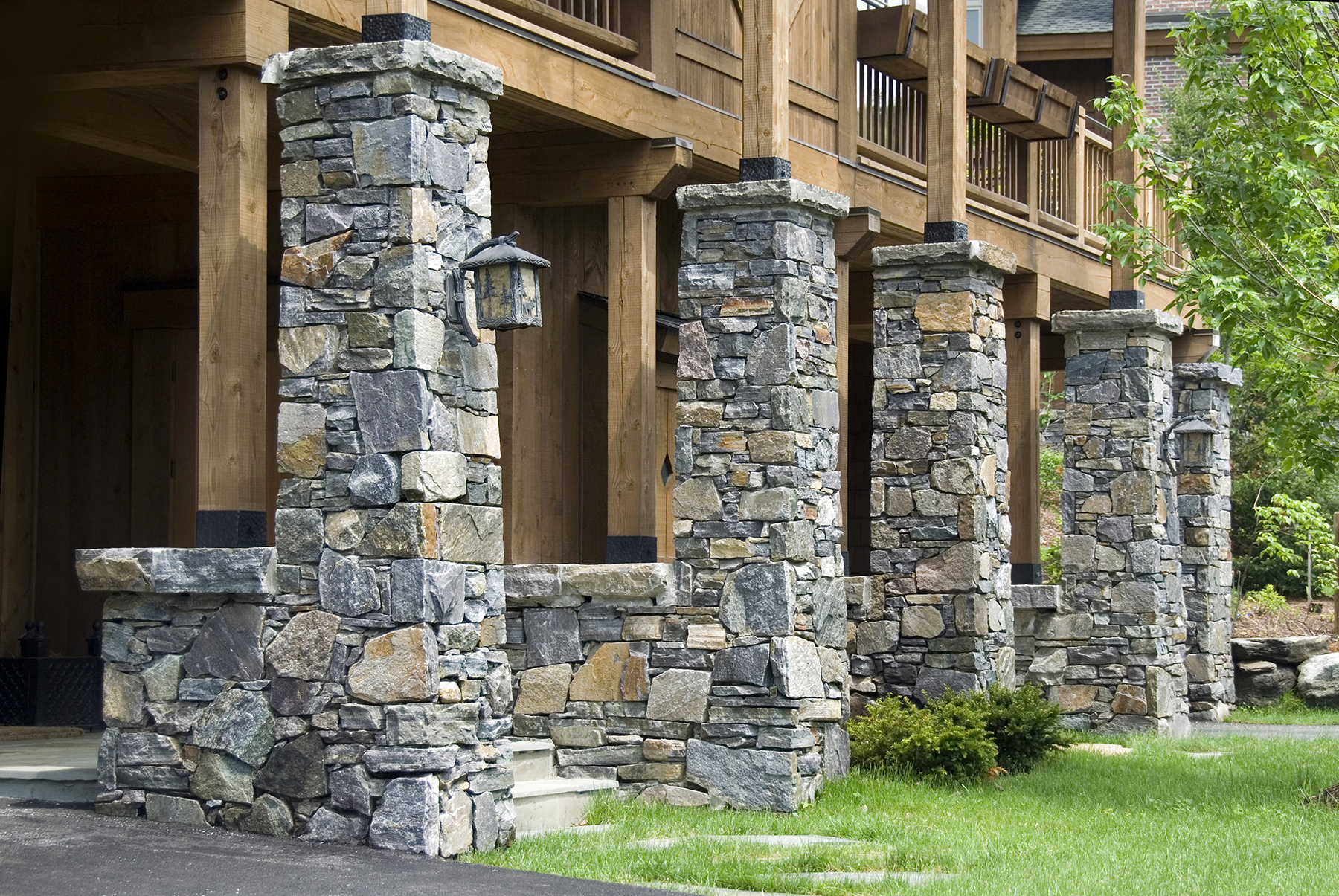 five stone columns