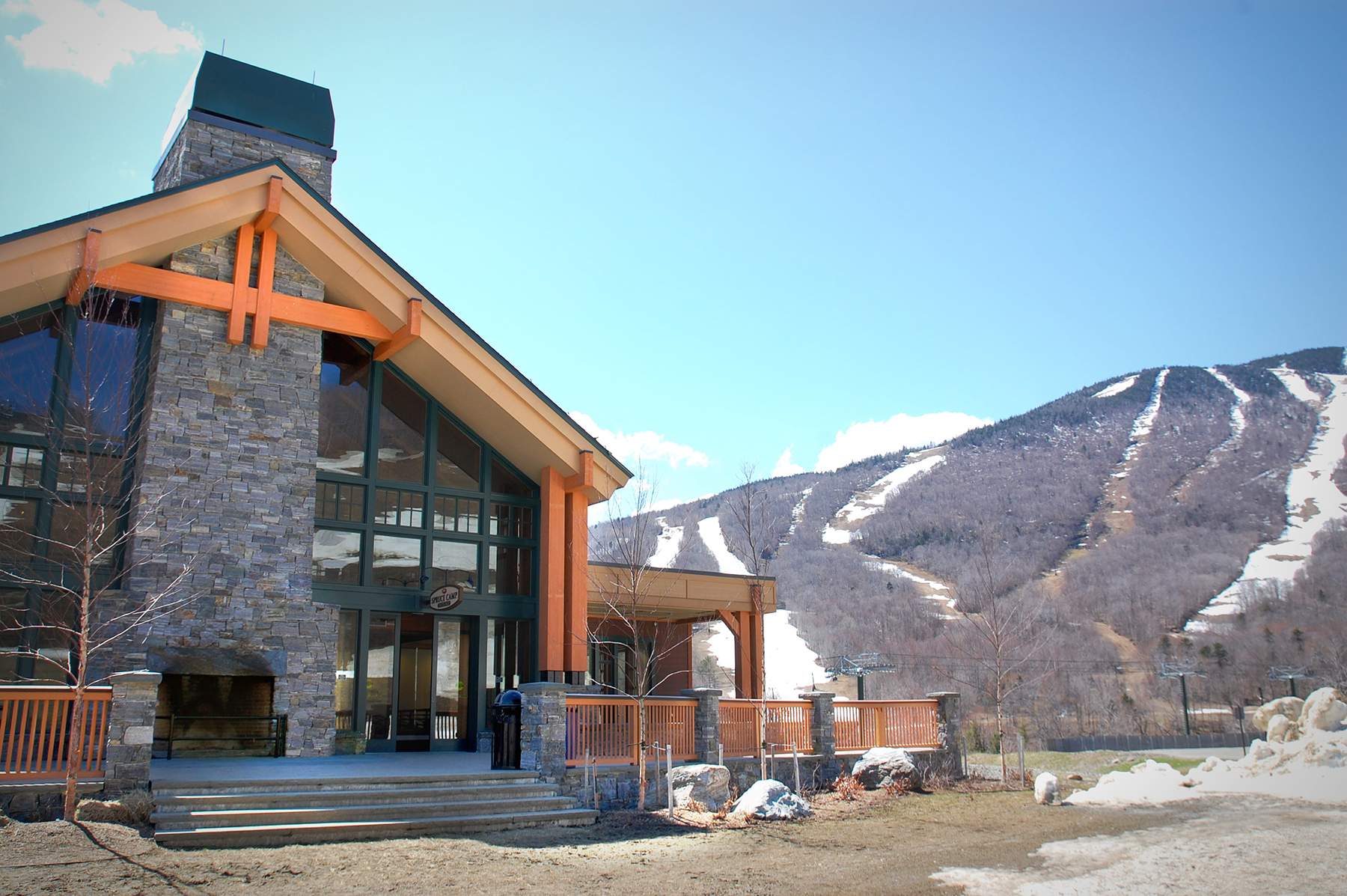 lodge on mountain