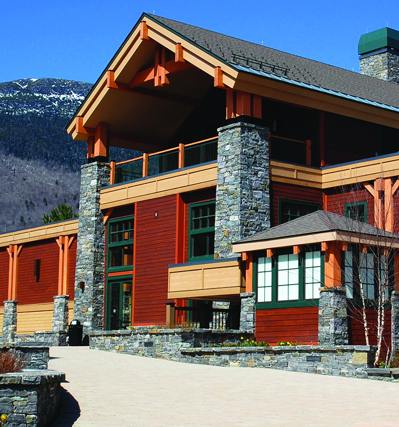exterior of lodge