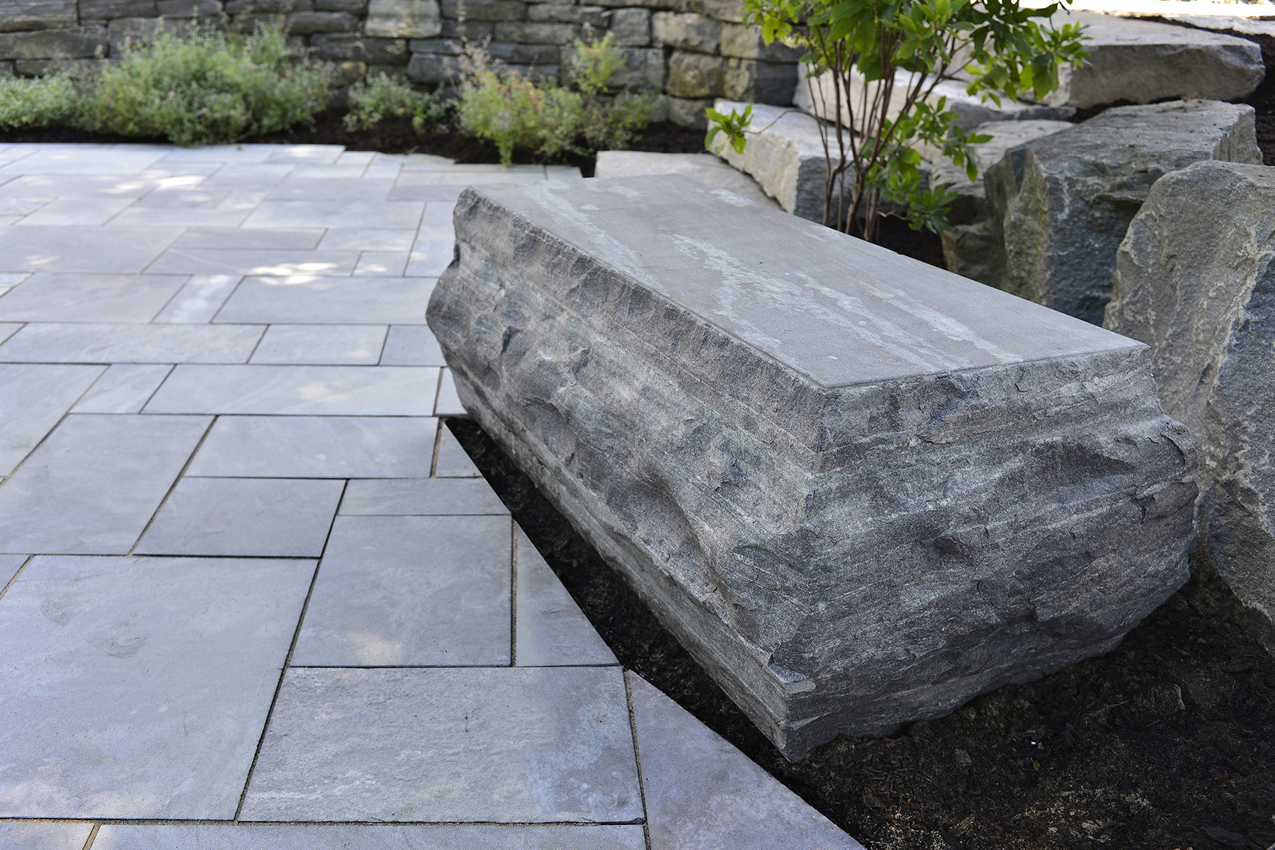 stone with flat top