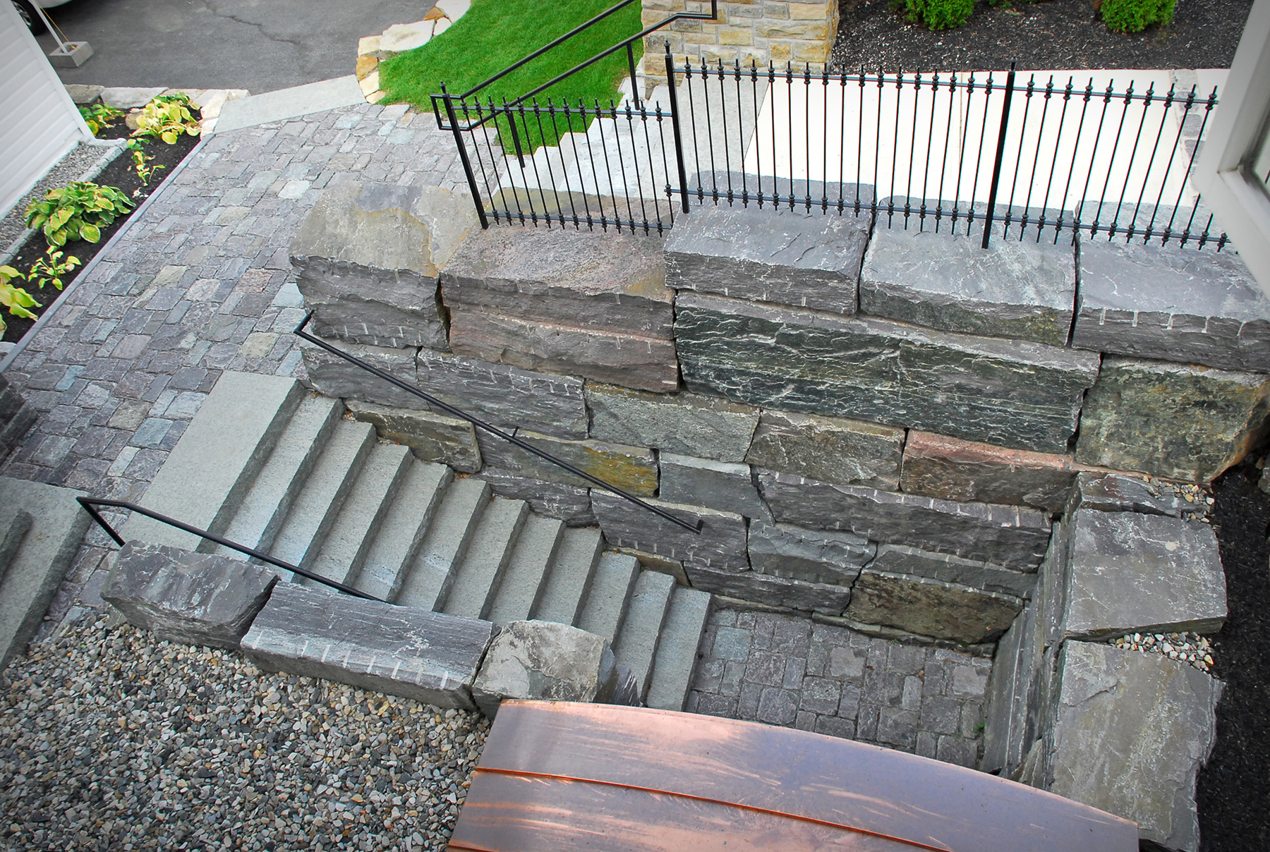 downward stone staircase