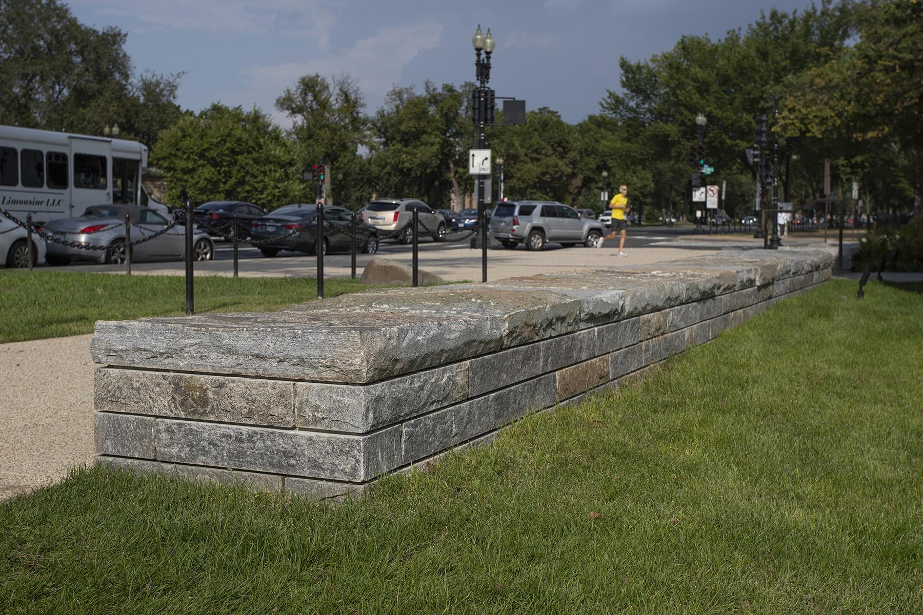short stone wall