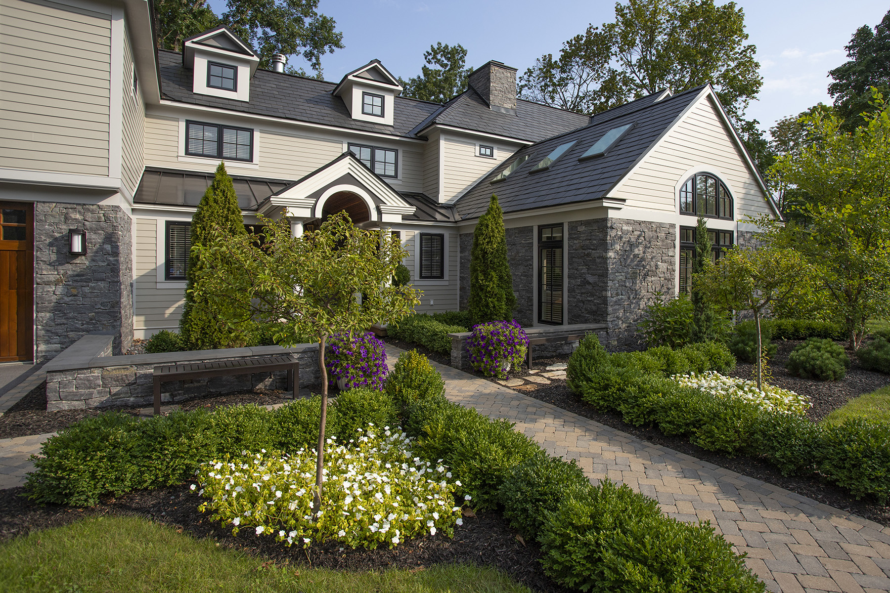 stone home entrance