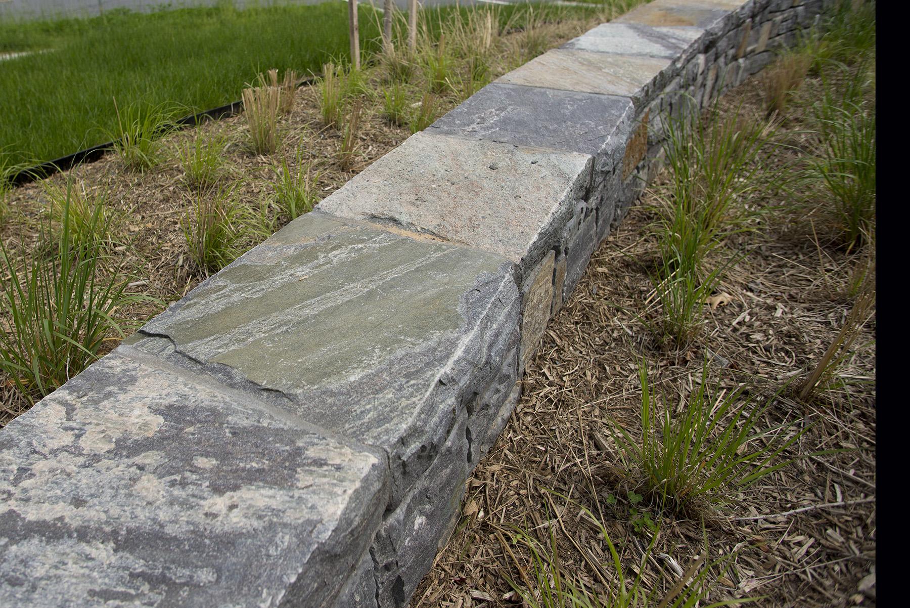 slab stone wall