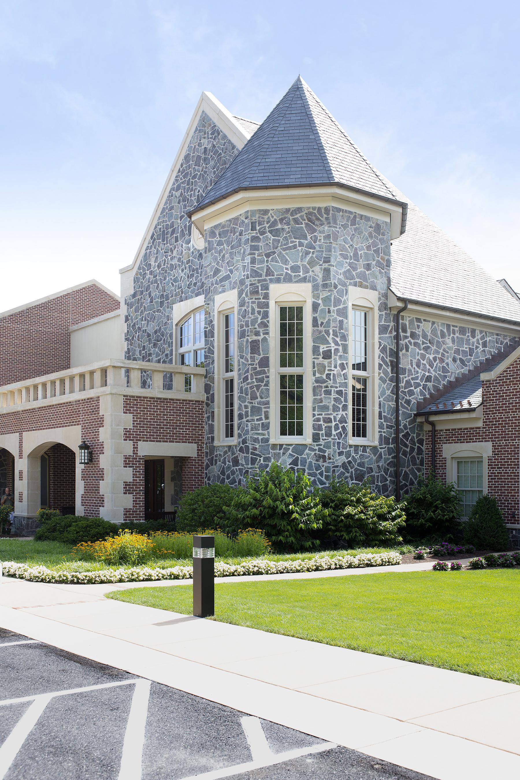 gray stone exterior