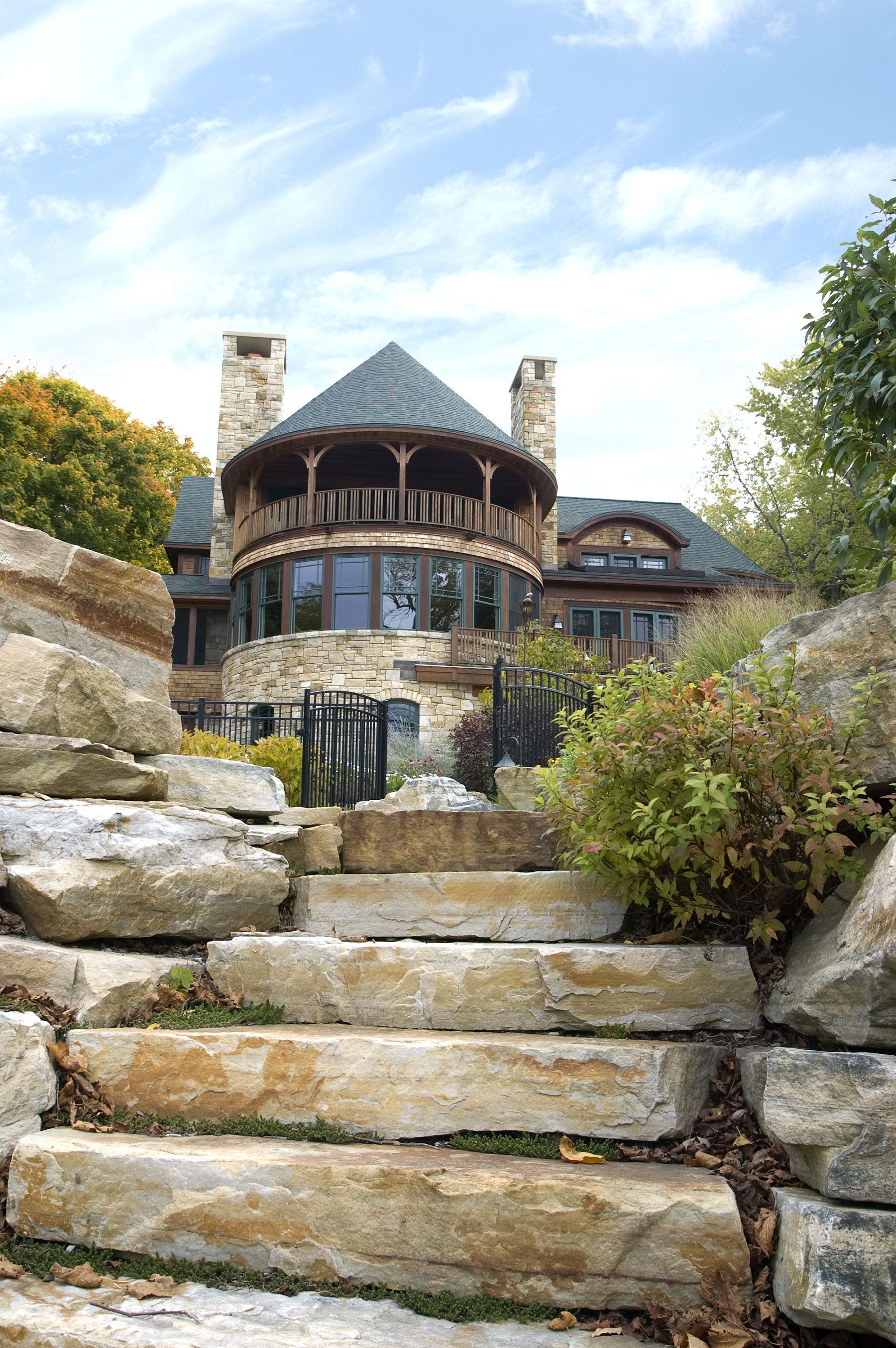 four stone steps