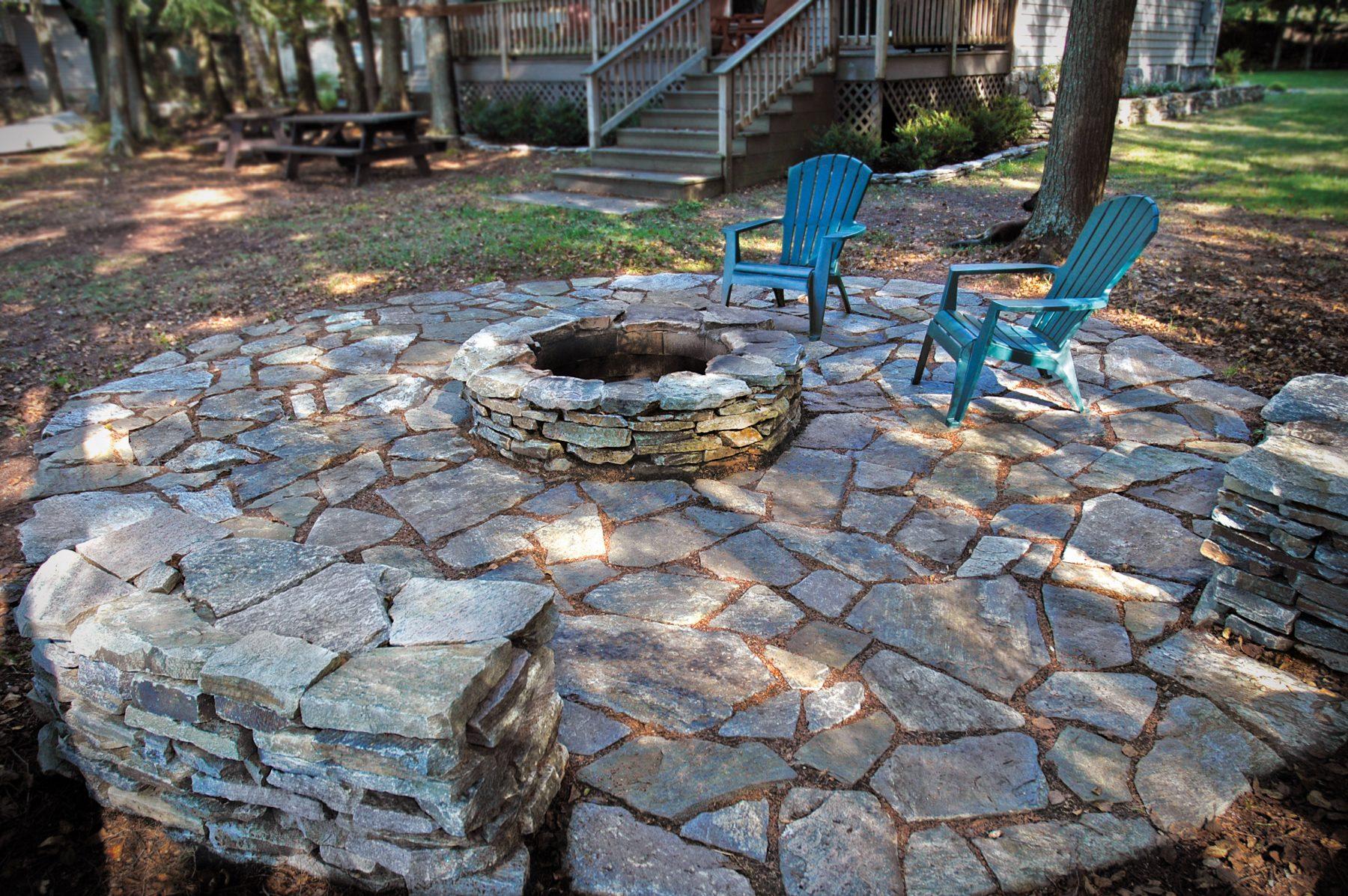 Fire pit wallstone