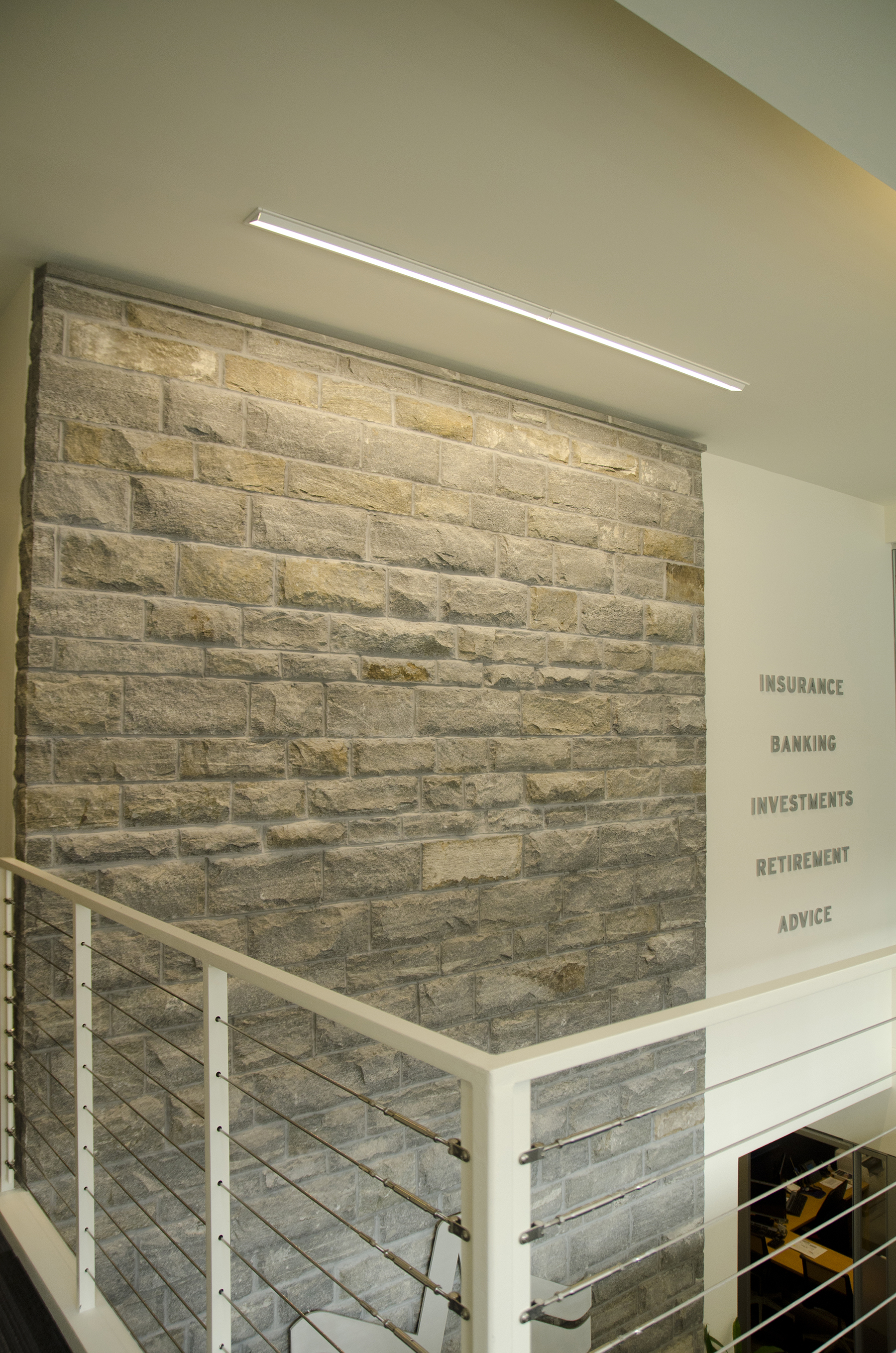 alternate angle stone wall decor